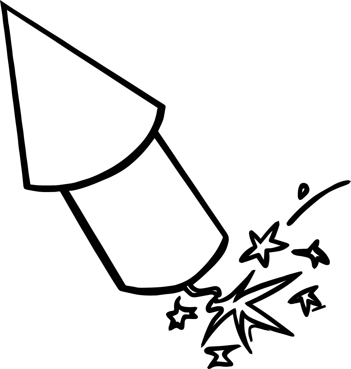 4th Of July Rocket Coloring Page