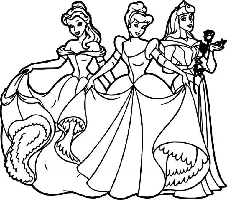 All Disney Princess Coloring Page | Wecoloringpage.com | all disney princess coloring pages printable