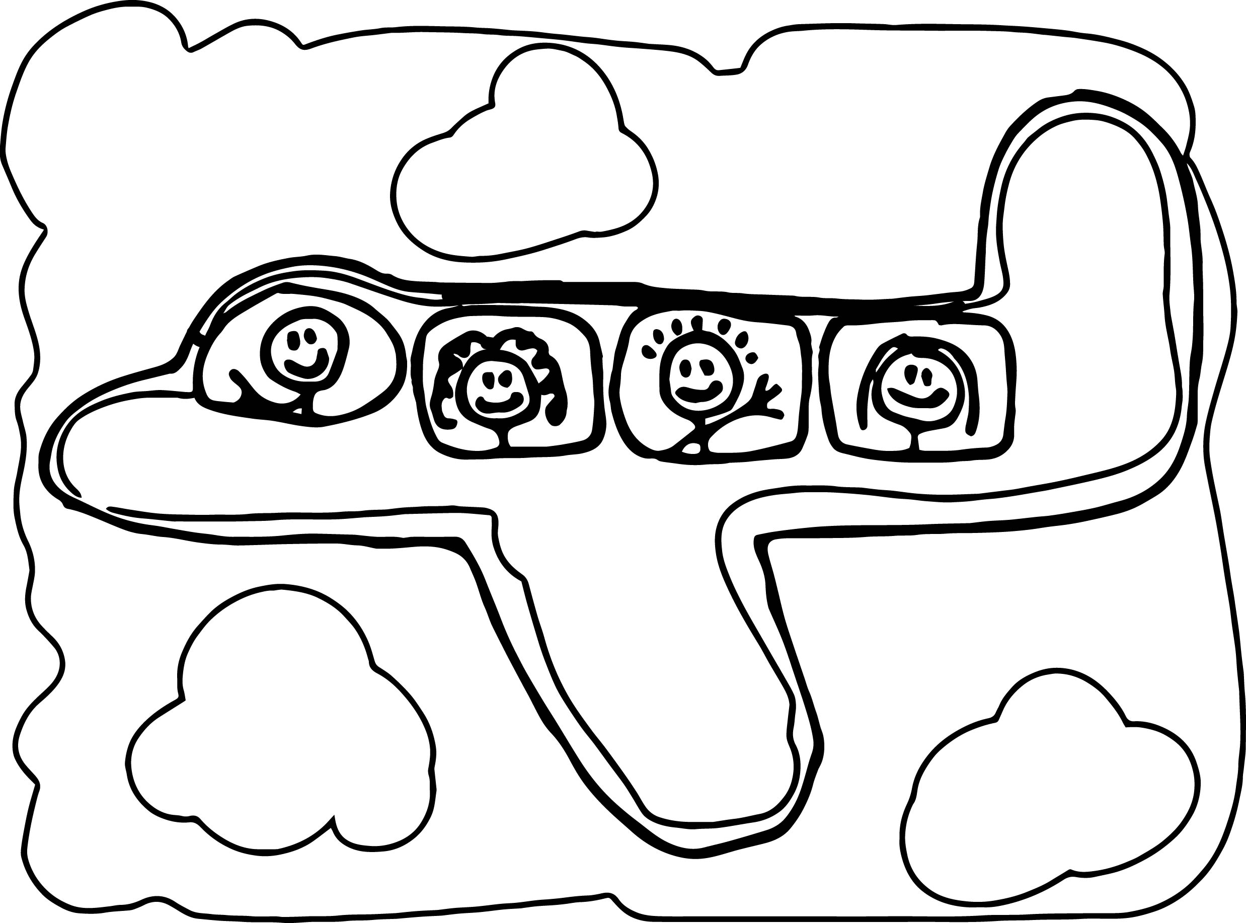 Basic Airplane Coloring Page