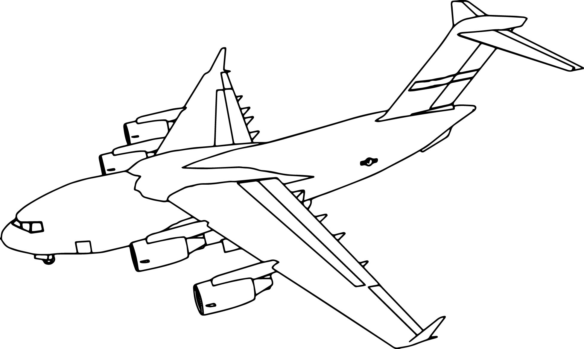 C17 Plane Coloring Page