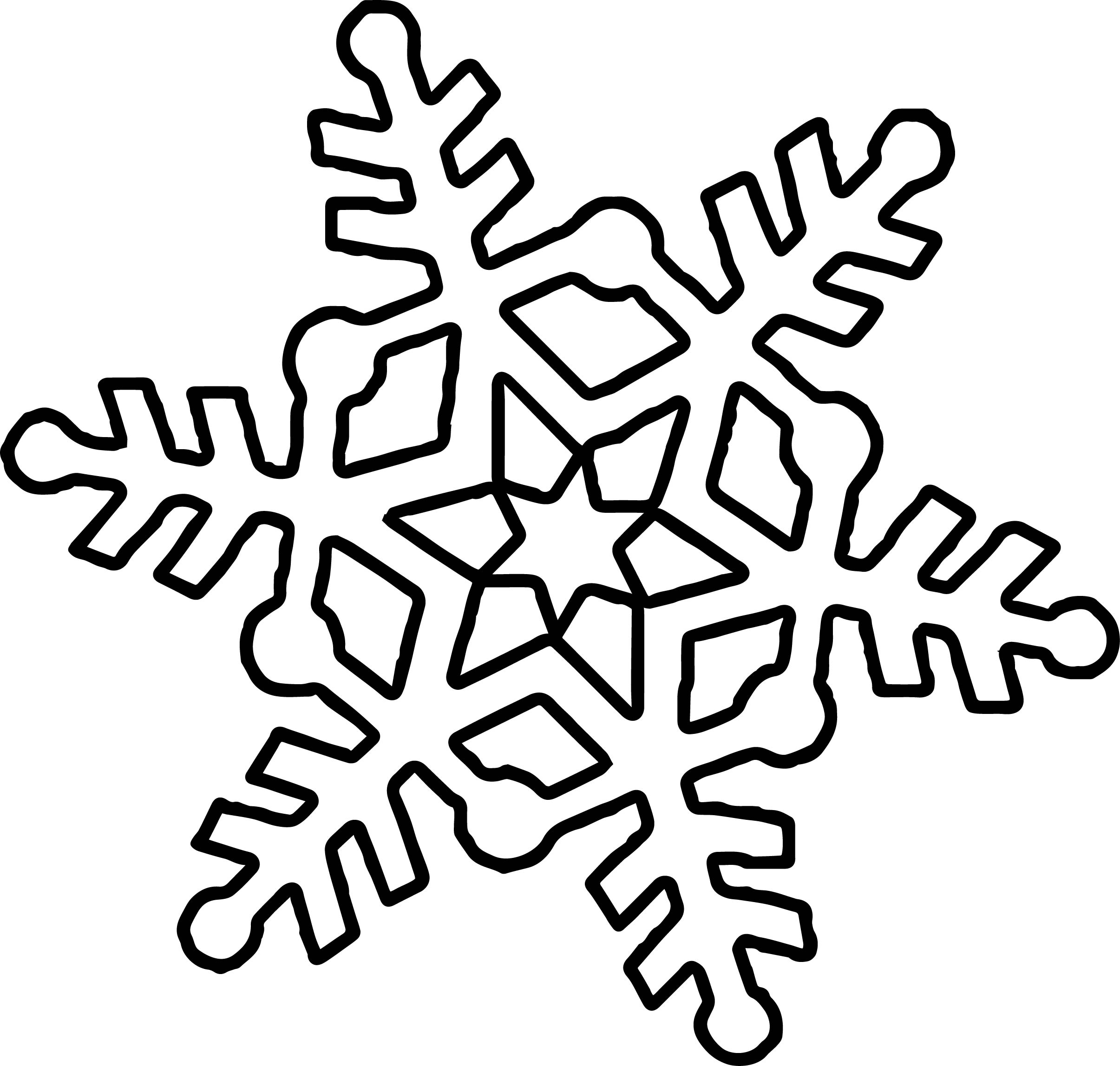 Cute Snowflake Coloring Page