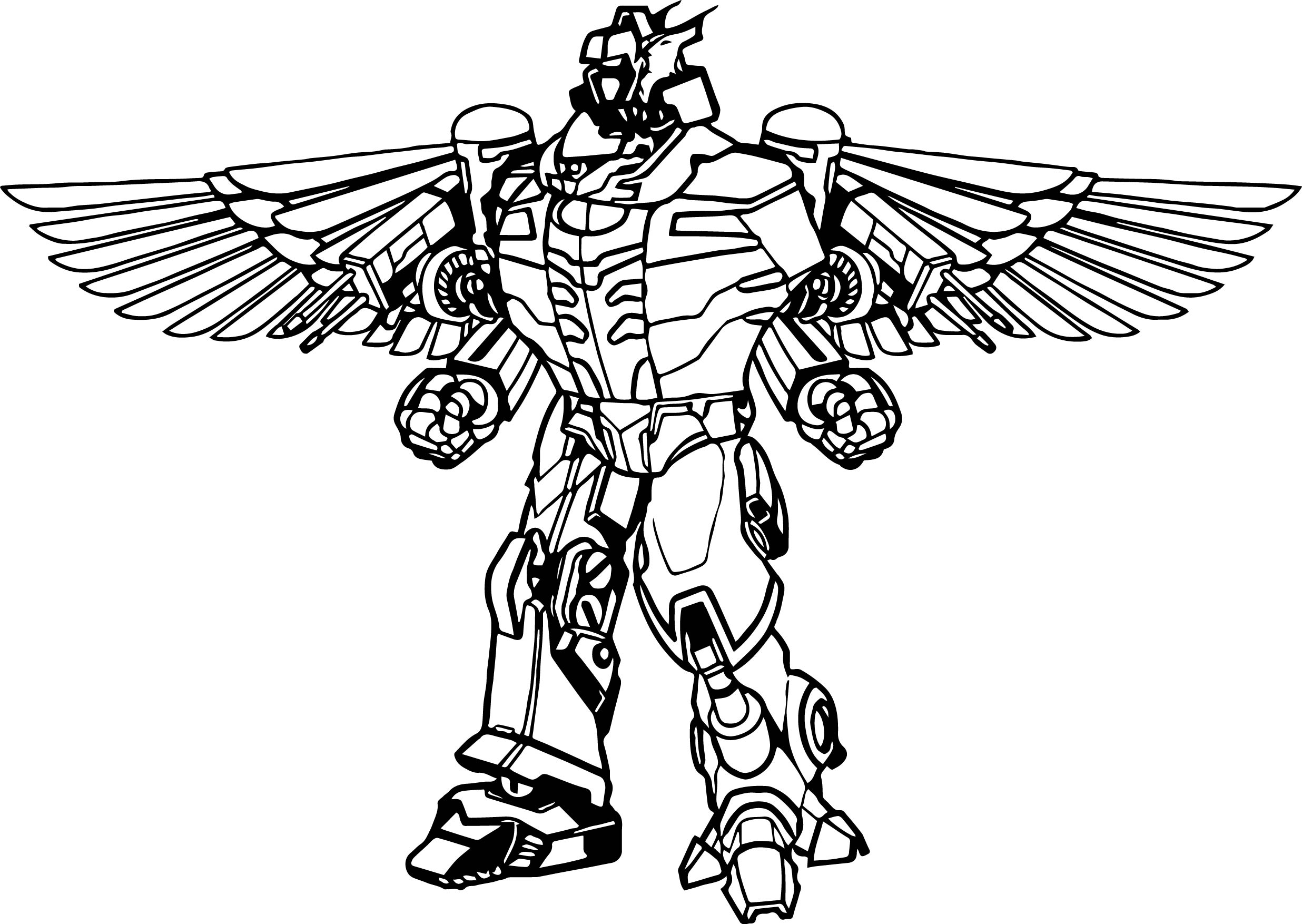 Power Rangers Robot Coloring Page