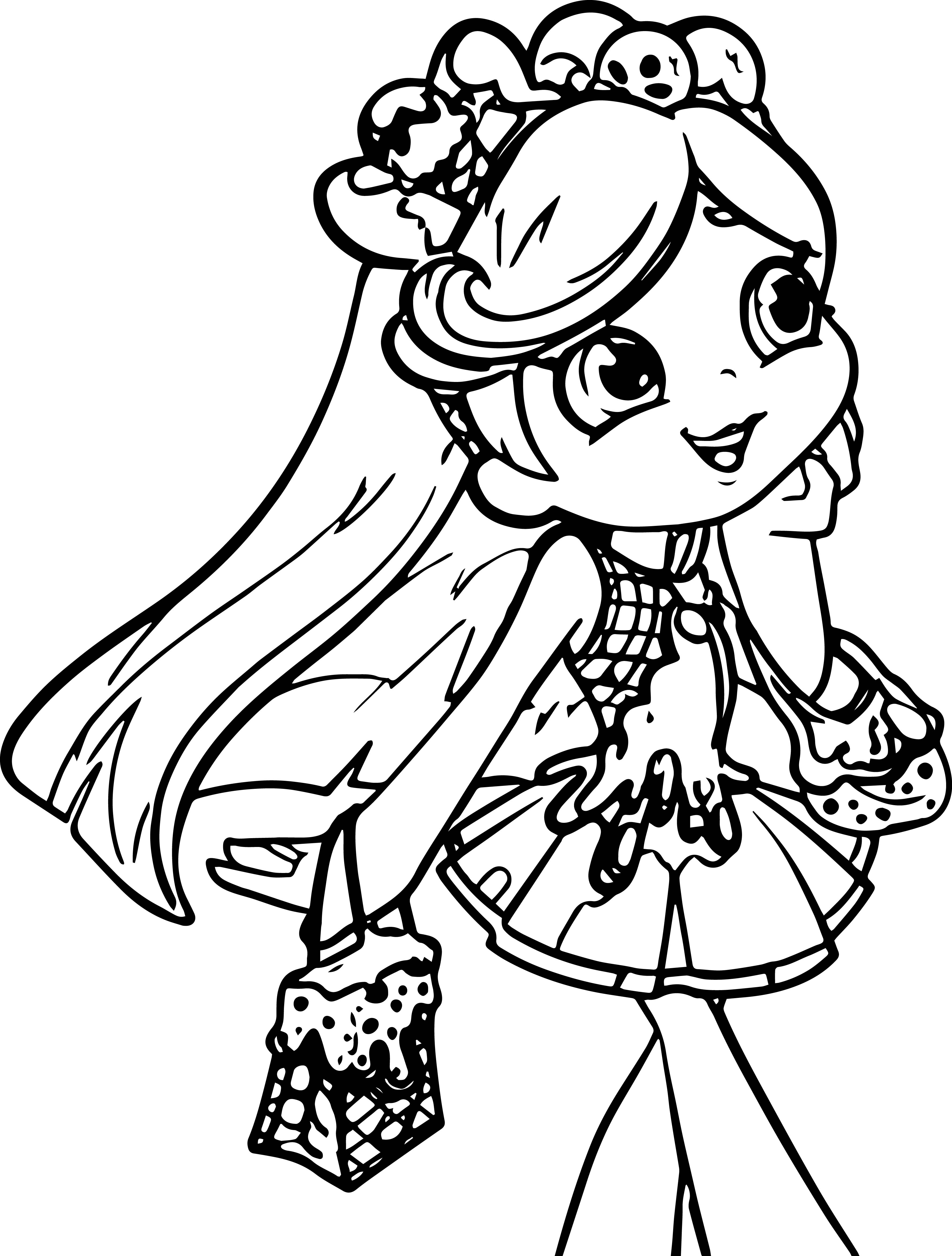 Shopkins Girl Coloring Page Wecoloringpage