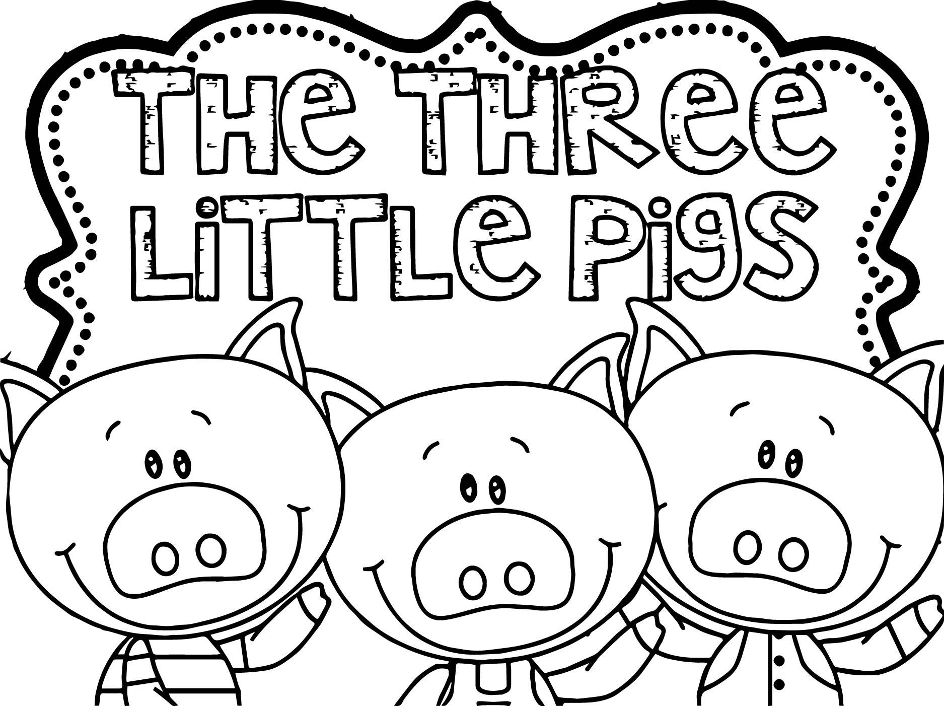 Stick Puppet Templates Three Little Pigs
