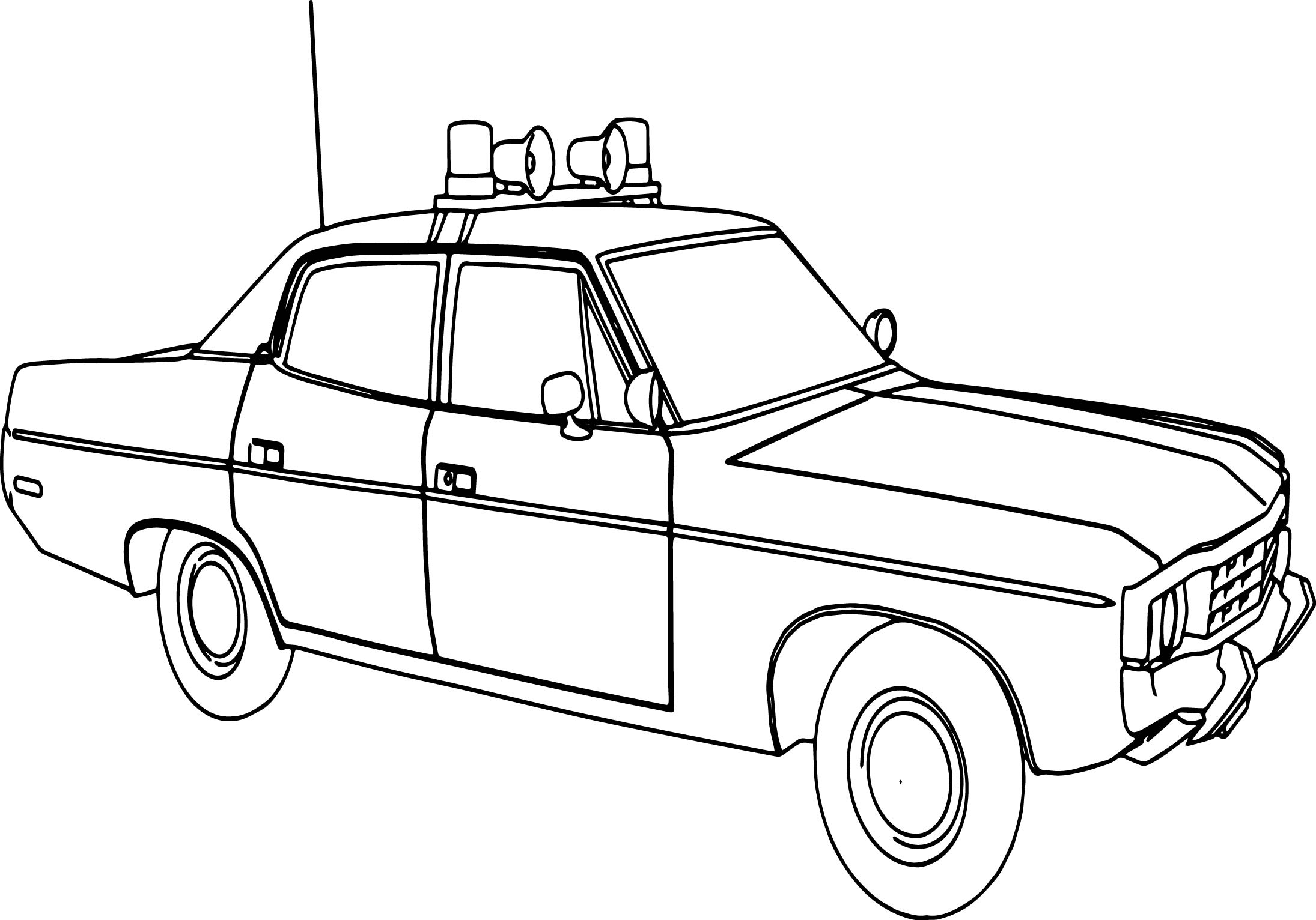 Abc Matador Sheriff Police Car Coloring Page