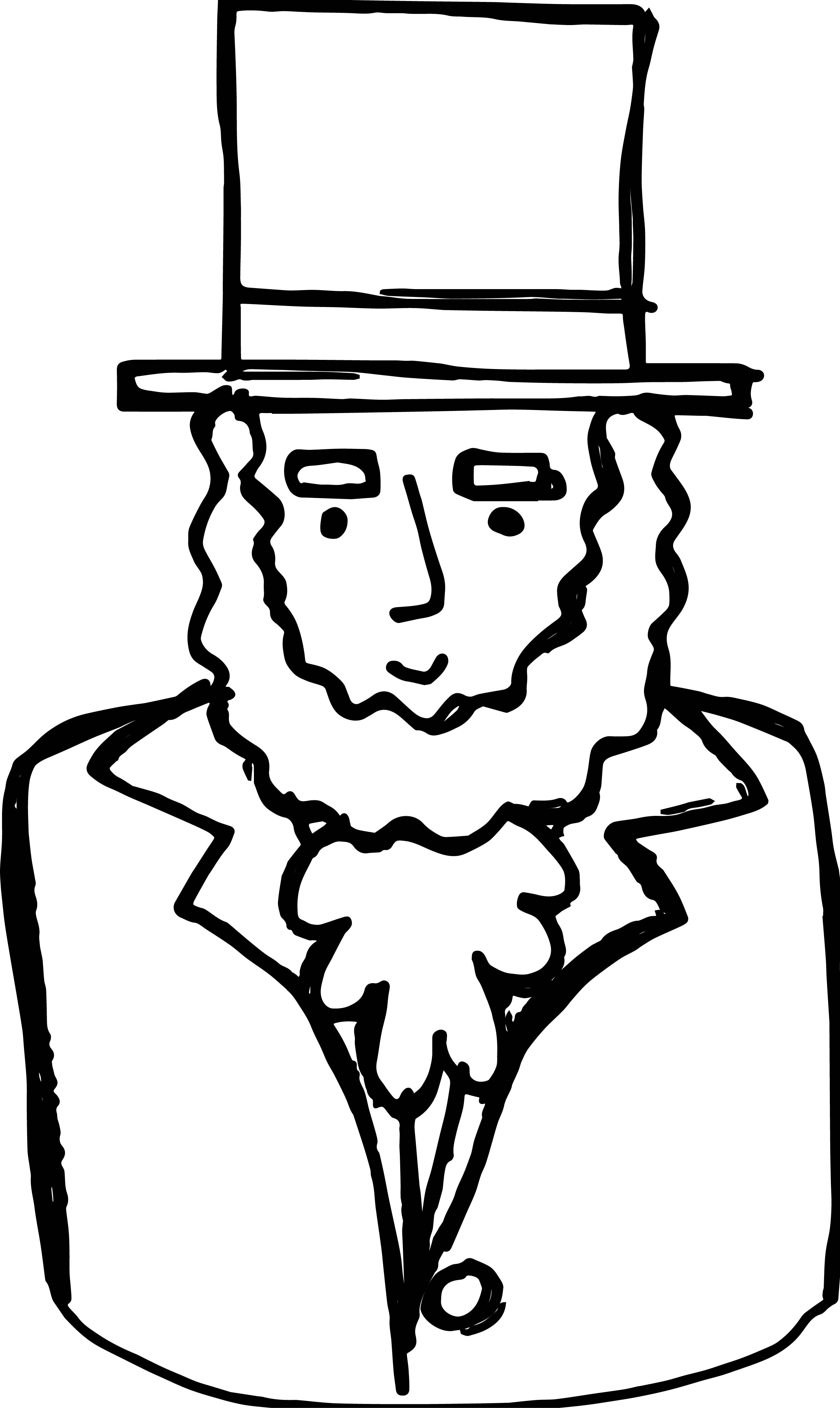Abraham Lincoln Hat Coloring Page