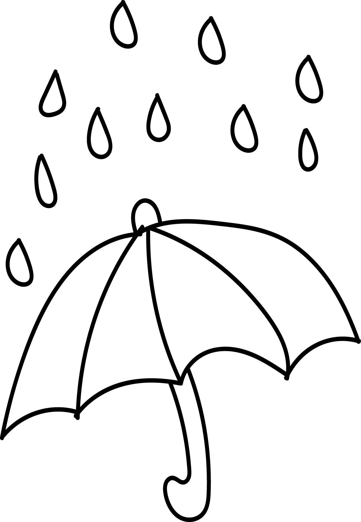 Aftershock Spring Rain Umbrella Free April Coloring Page