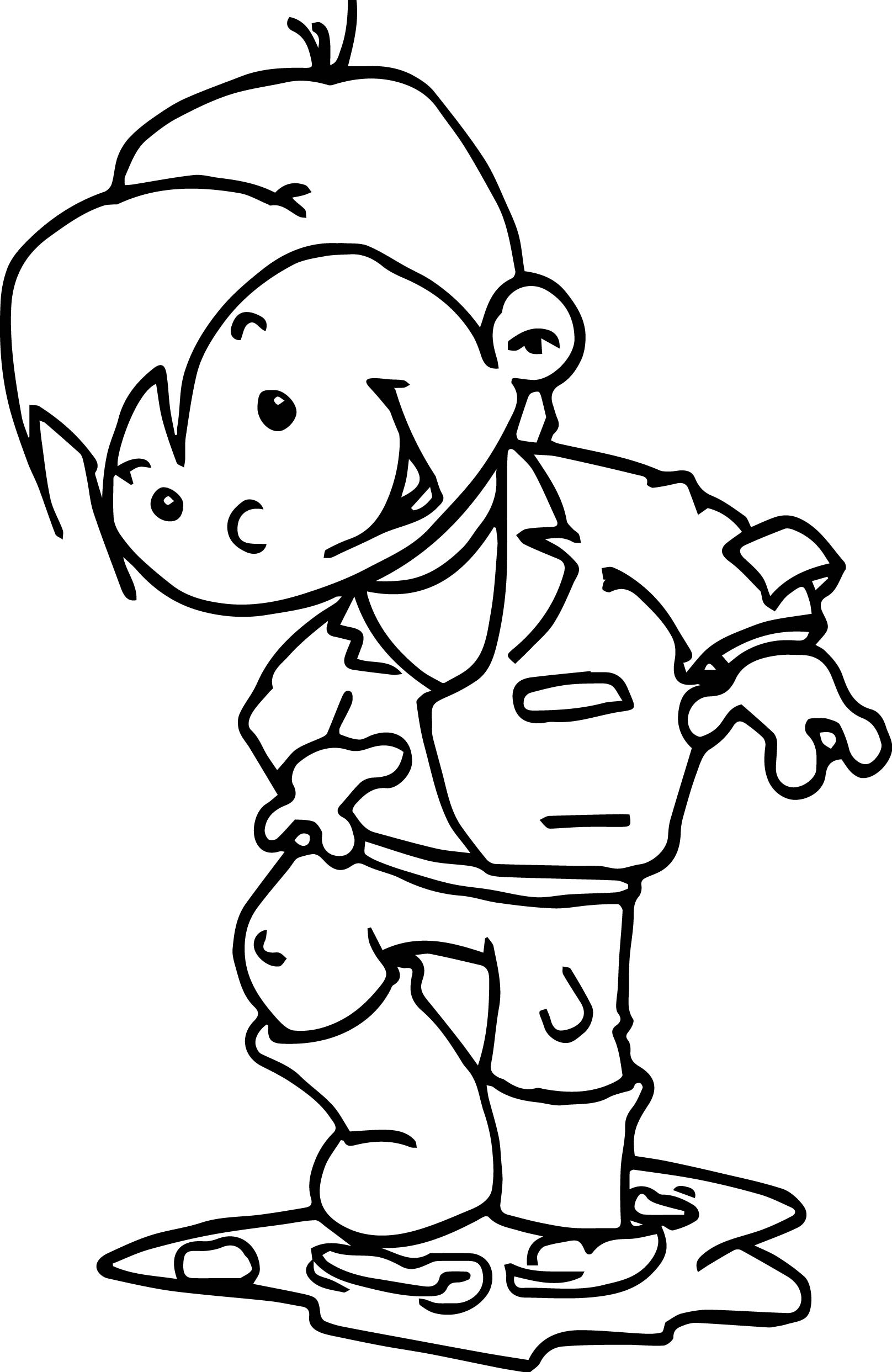 Autumn Image Free Kindergarten Coloring Page