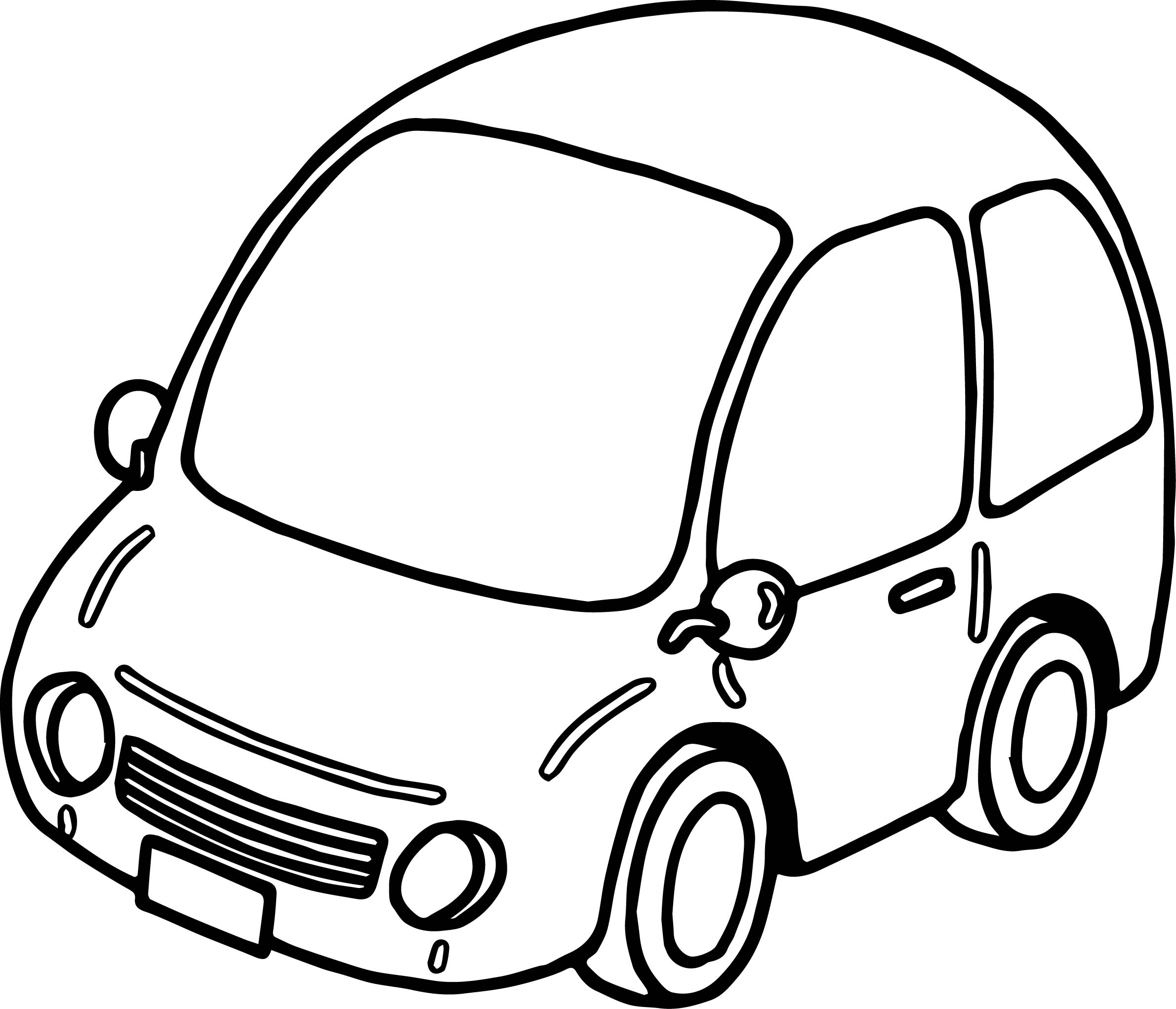 Basic Car Coloring Page