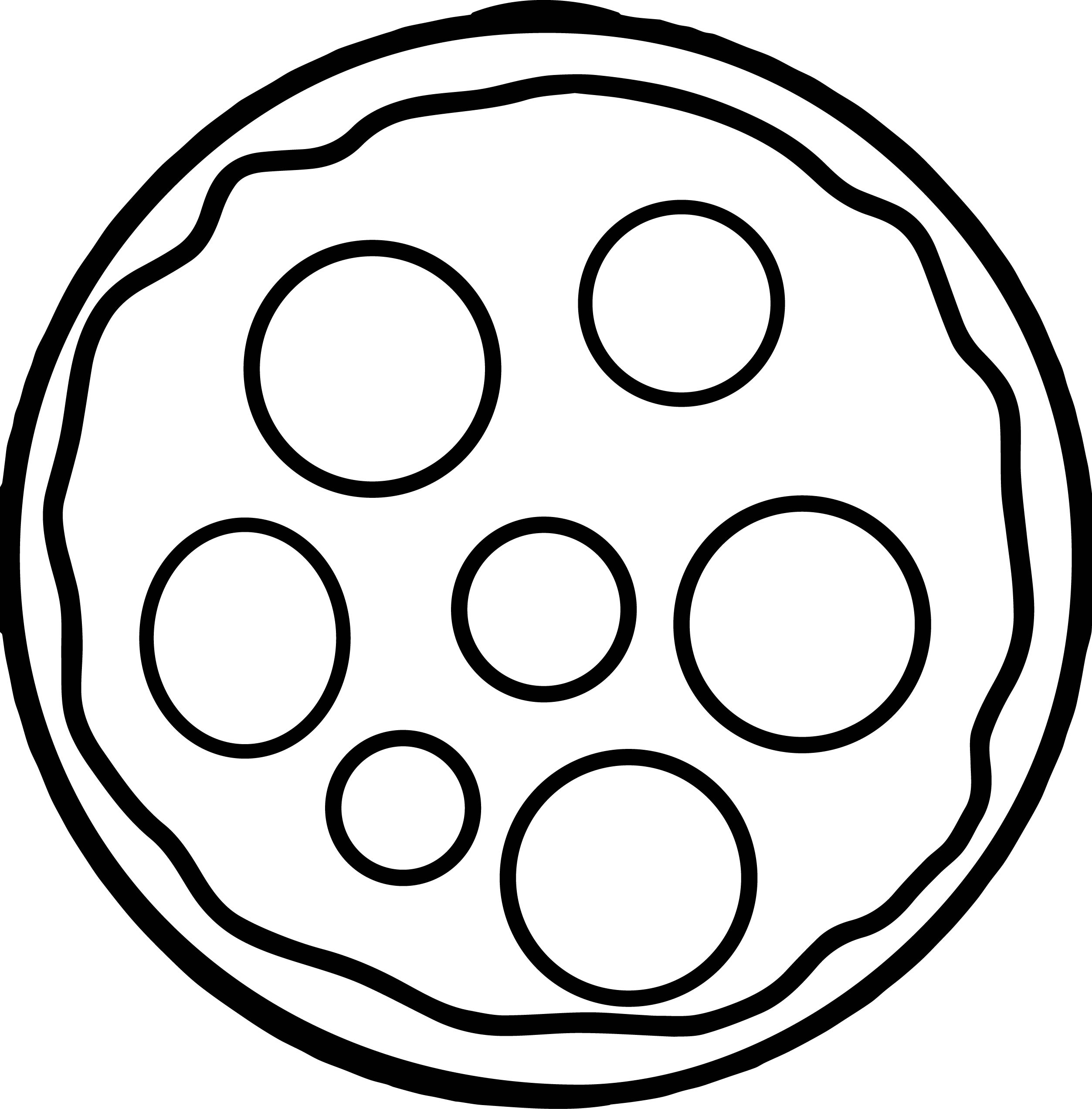 Cheese Basic Pizza Coloring Page