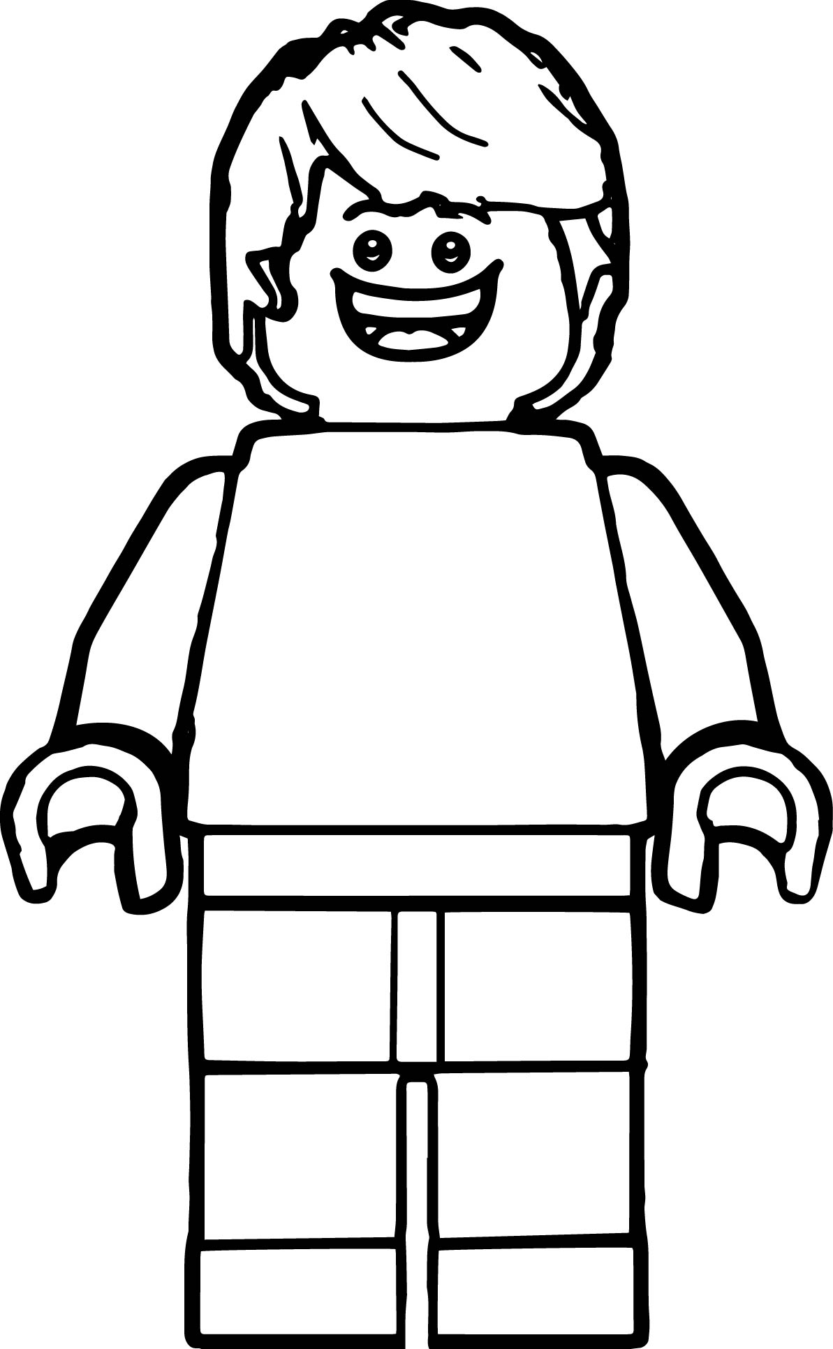Lego Man Coloring Page