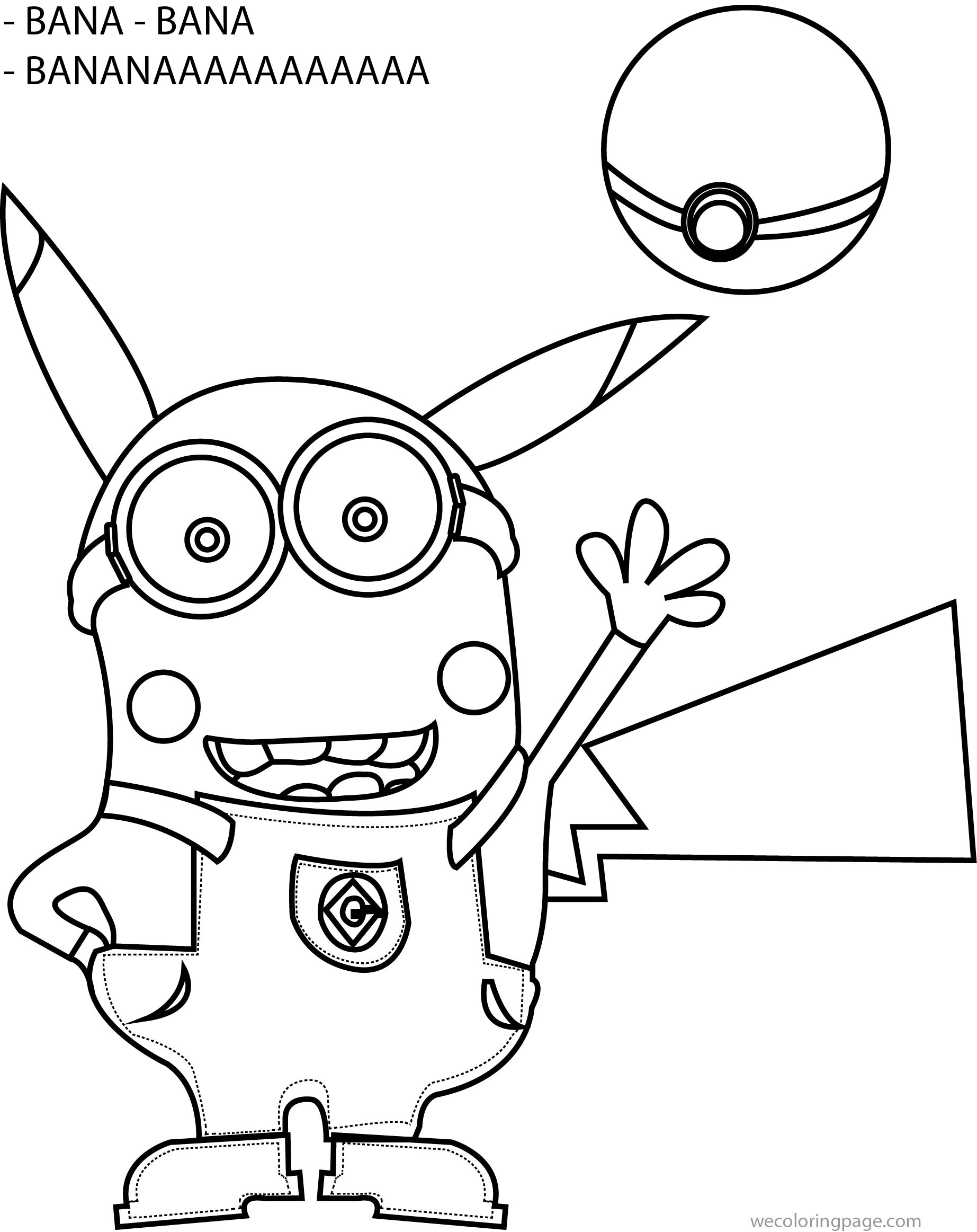 Minion Banana Coloring Pages Online Free Movie Sketch Coloring Page