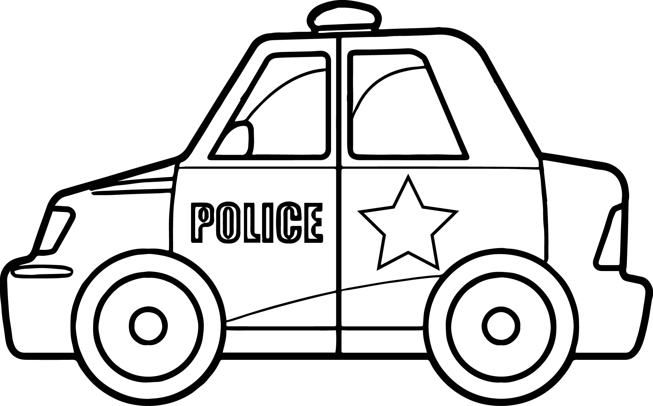 Police Car Coloring Pages Sketch Coloring Page