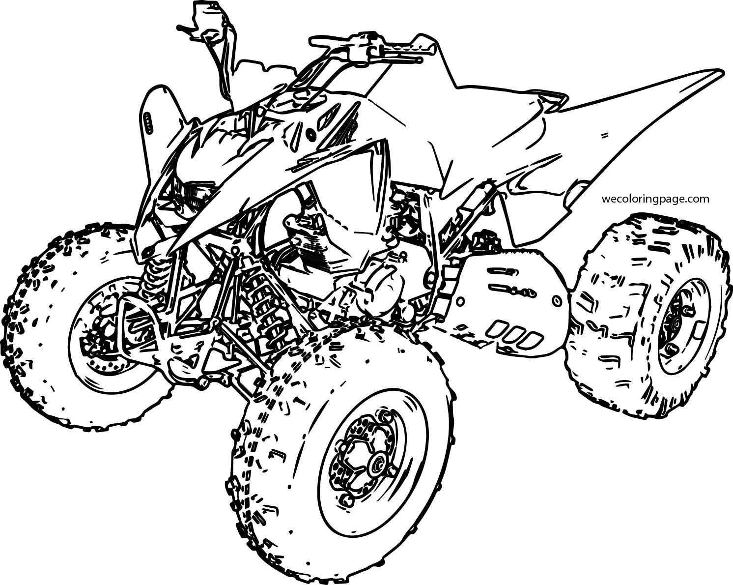Sport Atv Yamaha Raptor Coloring Page Wecoloringpage