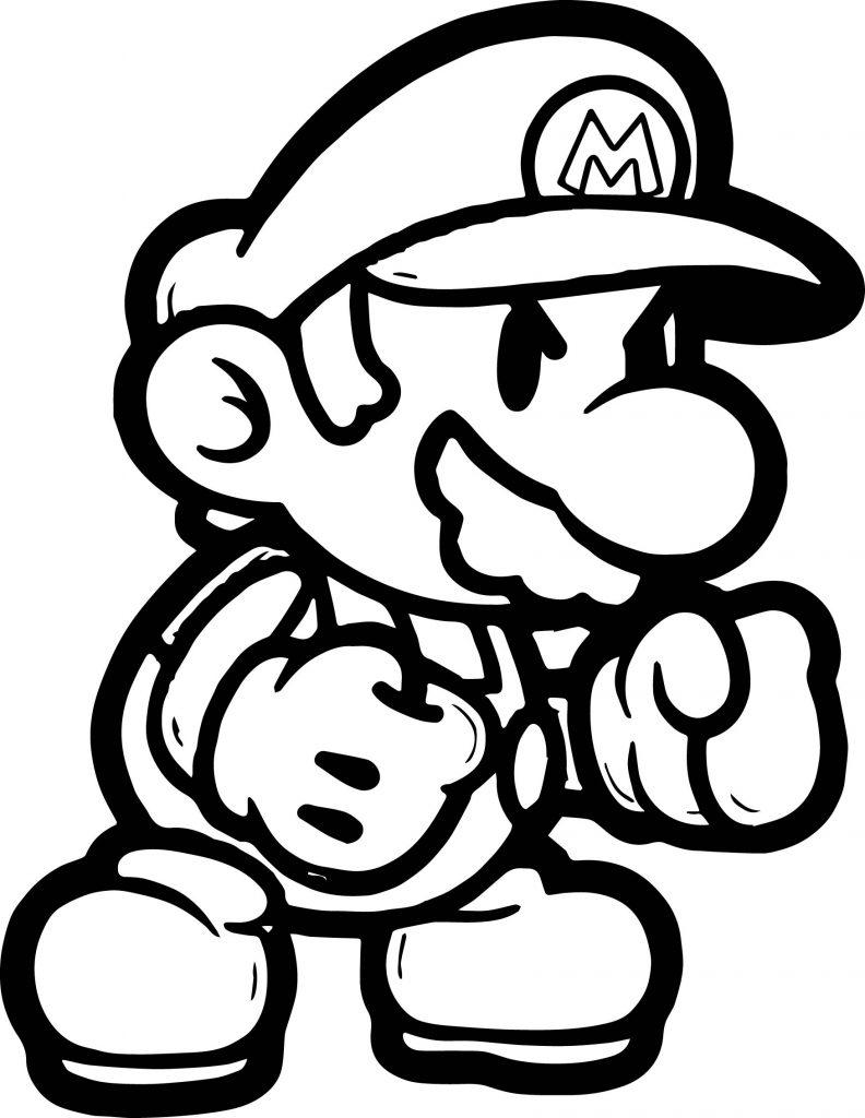 super mario boxing coloring page  wecoloringpage