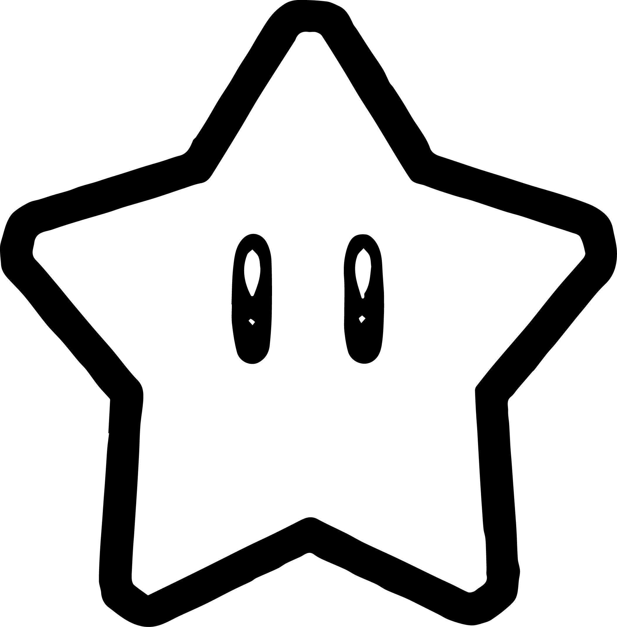 Super Mario Star Coloring Page Wecoloringpage