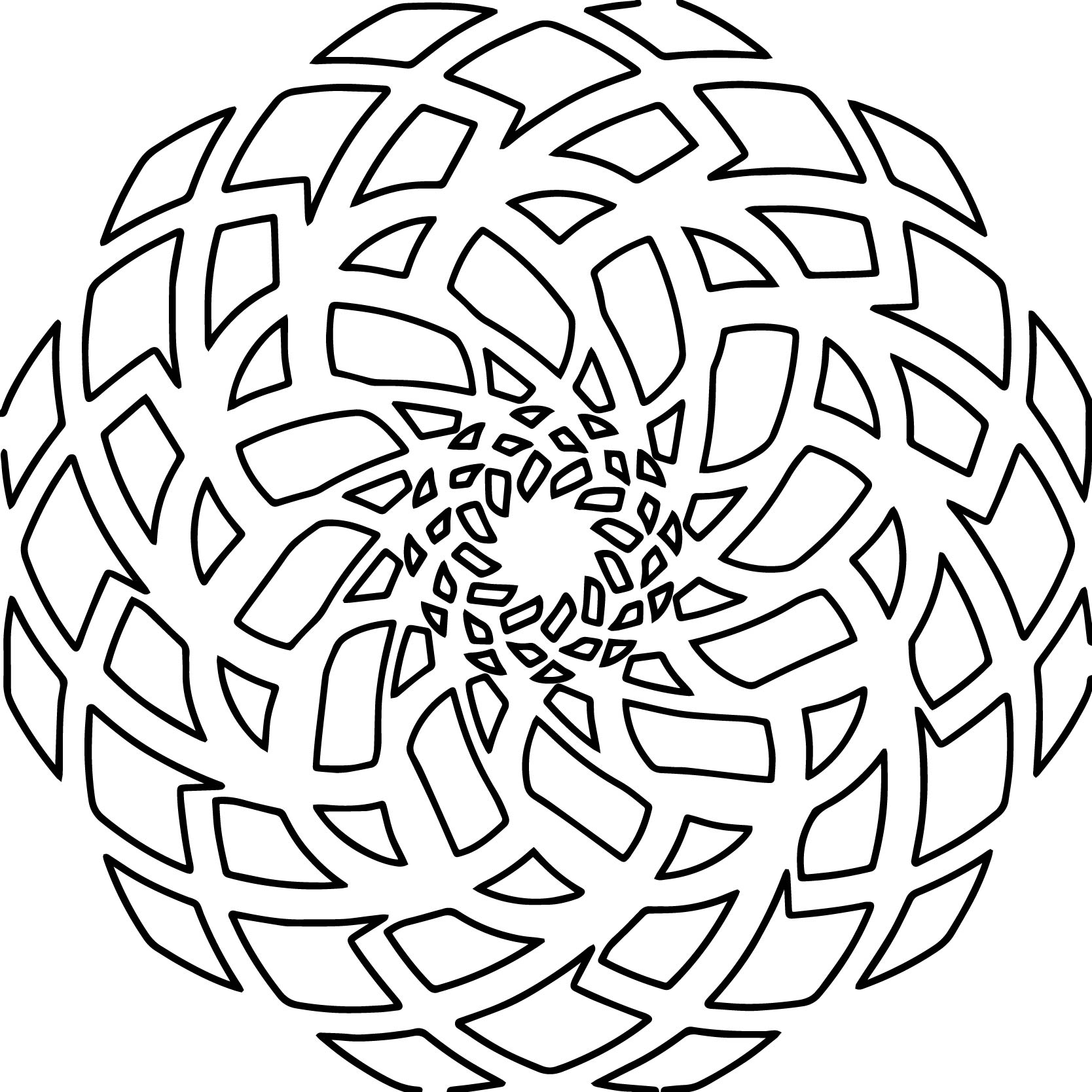 Tikigiki Abstract Element Coloring Page