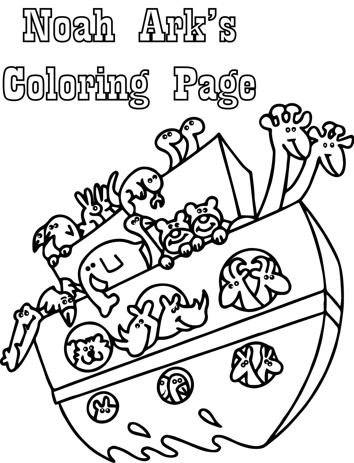 Basic Noah Ark Coloring Page