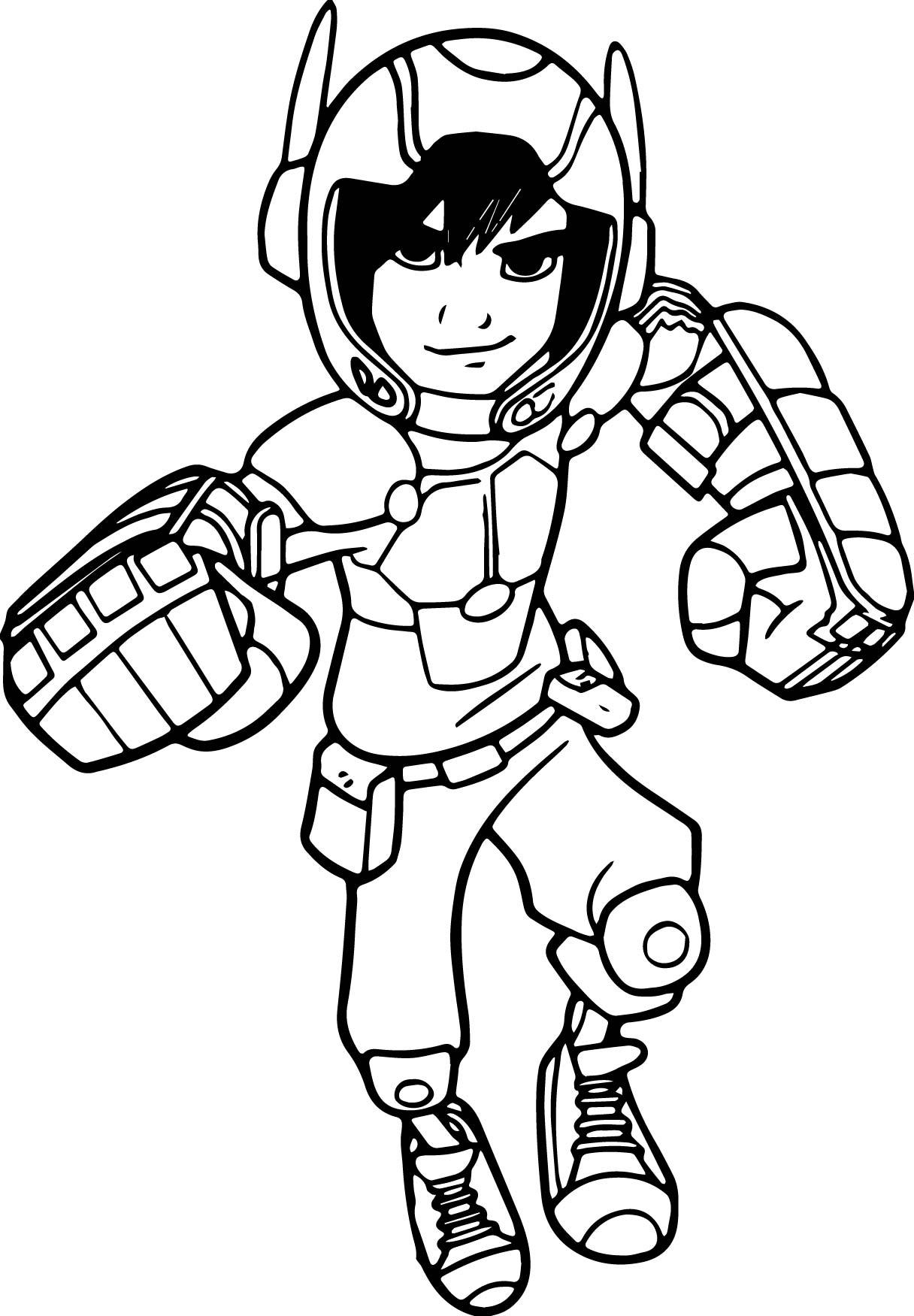 Big Hero 6 Characters Hiro Coloring Page