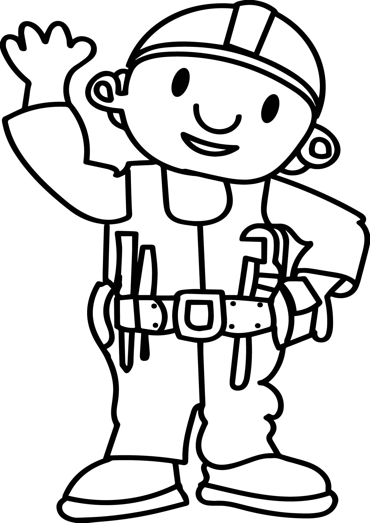 Bob The Builder Hello Coloring Page