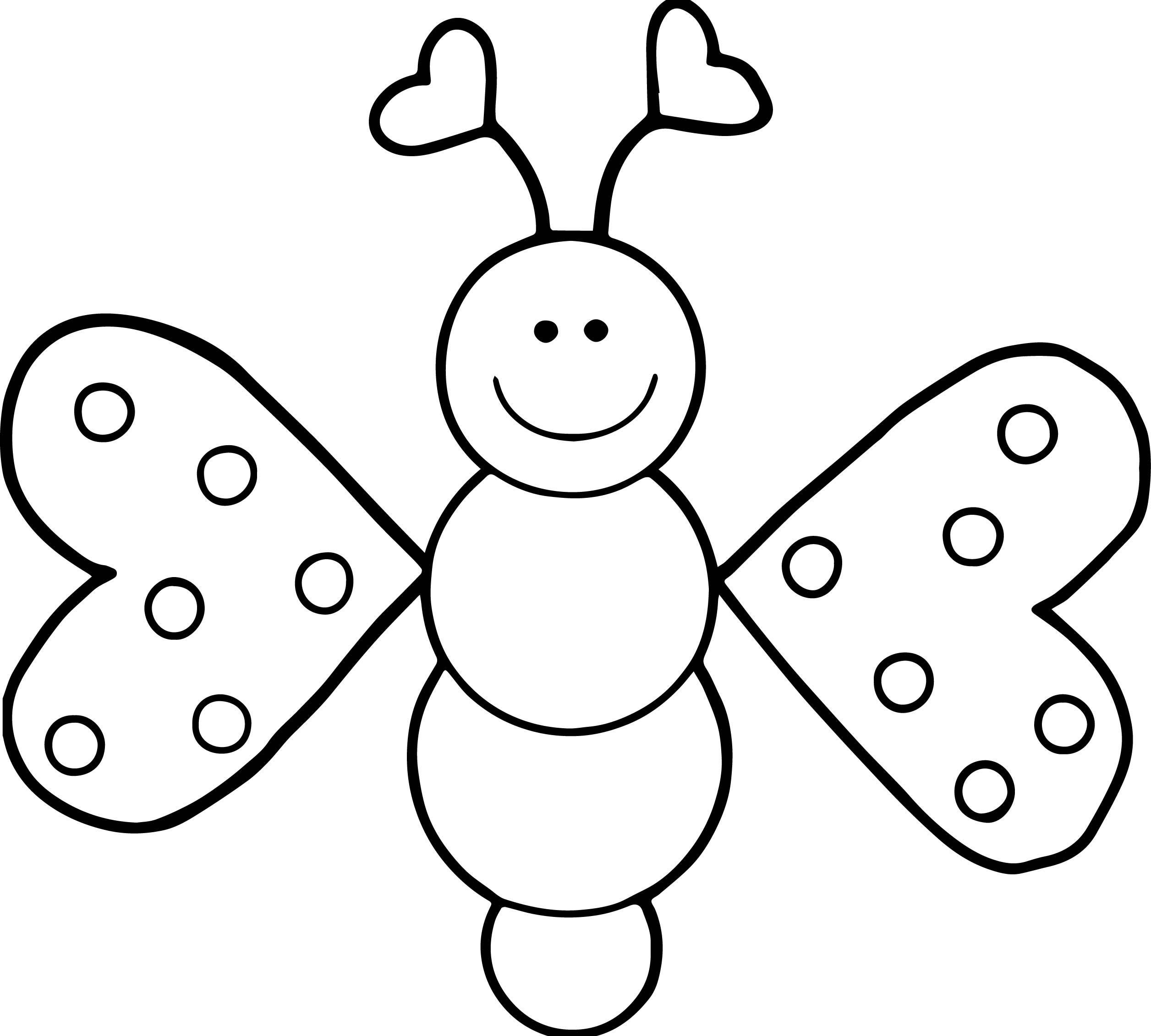 Cartoon Girl Butterfly Coloring Page Wecoloringpage