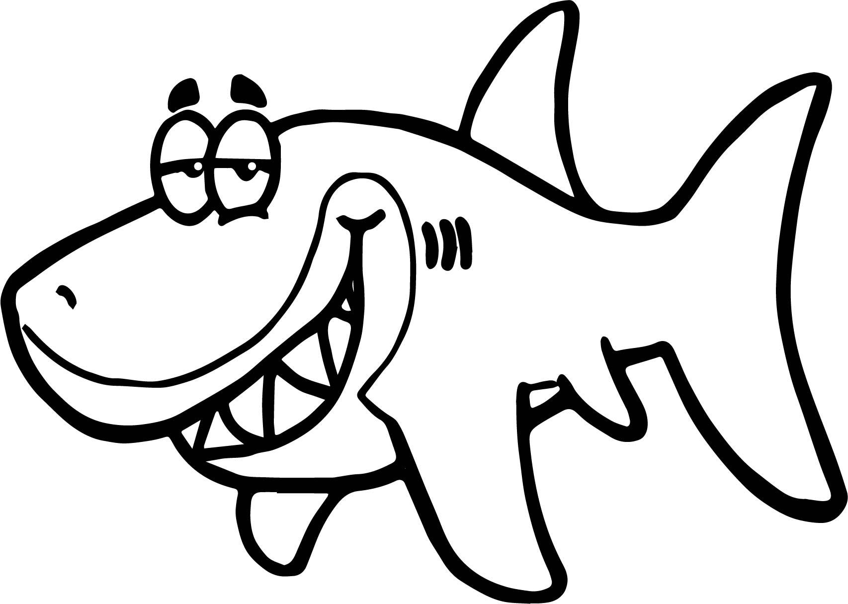 Cartoon Shark Funny Fish Paper Invitation Underwater
