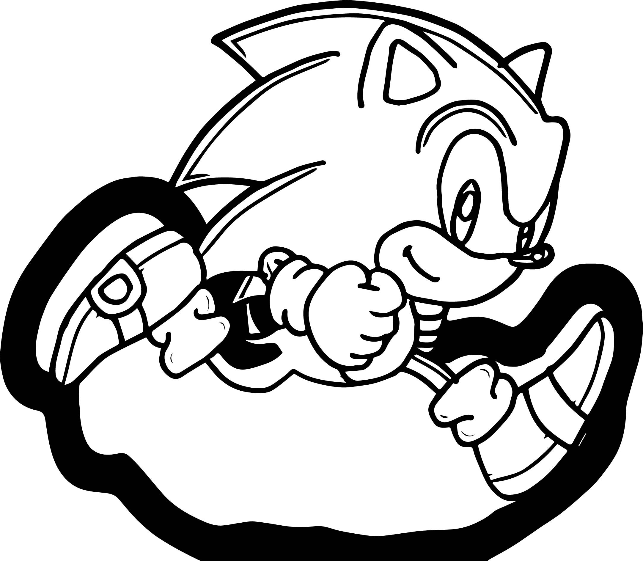 Classic Sonic Sheets Coloring Pages