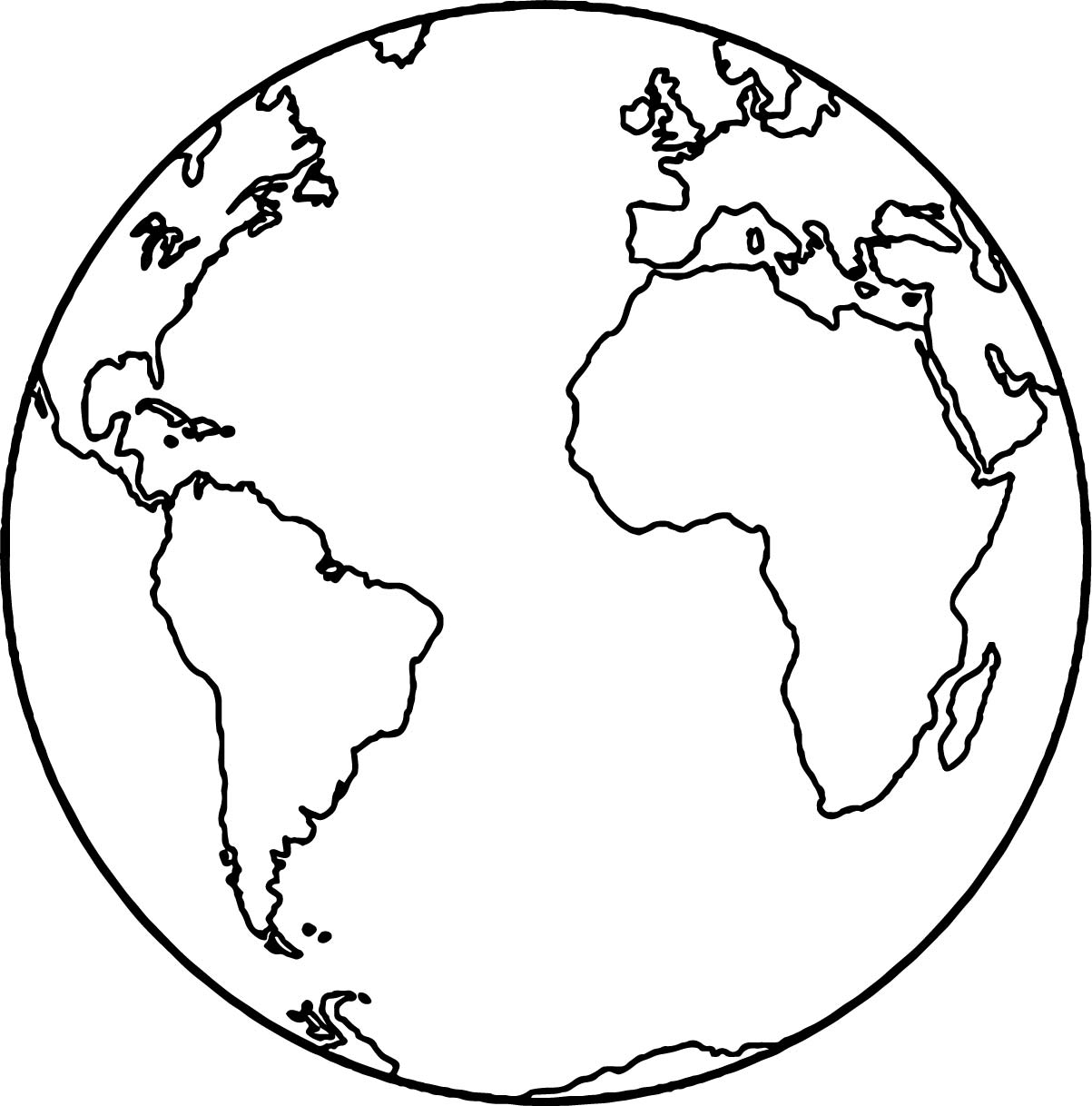 Equator Earth Pages Coloring Pages