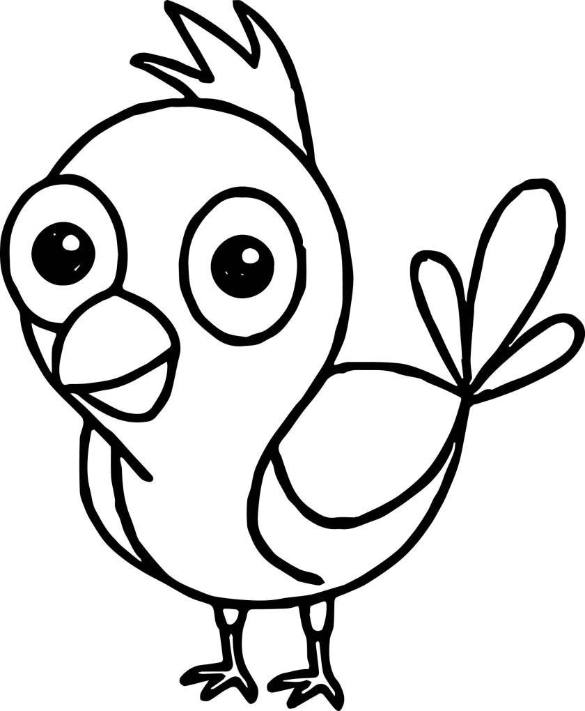 funny bird coloring page  wecoloringpage