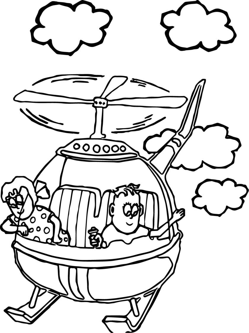 kids fly helicopter coloring page  wecoloringpage