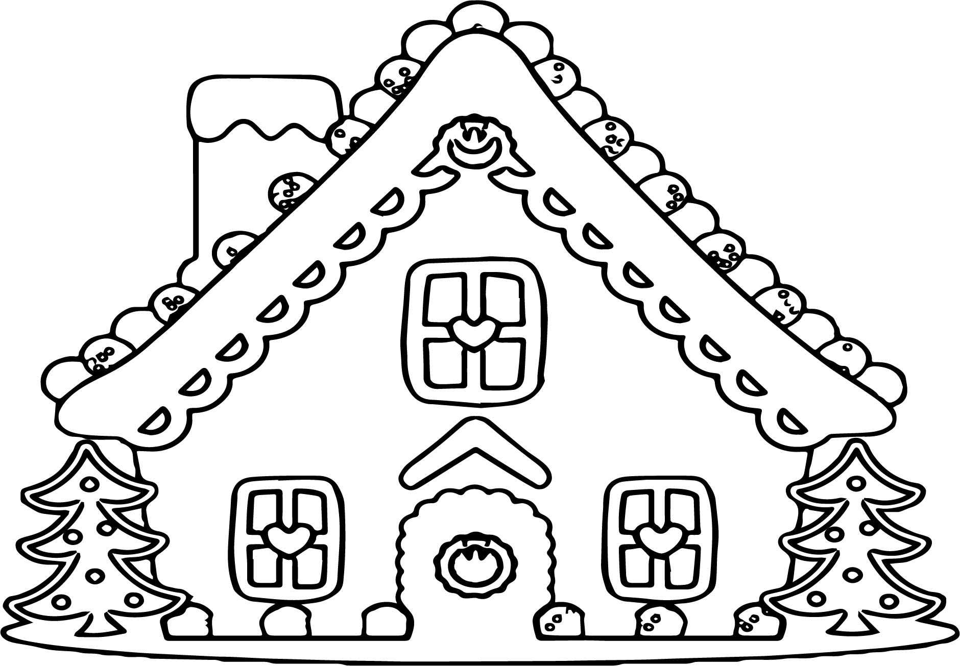 Gingerbread Girl Coloring Page Template