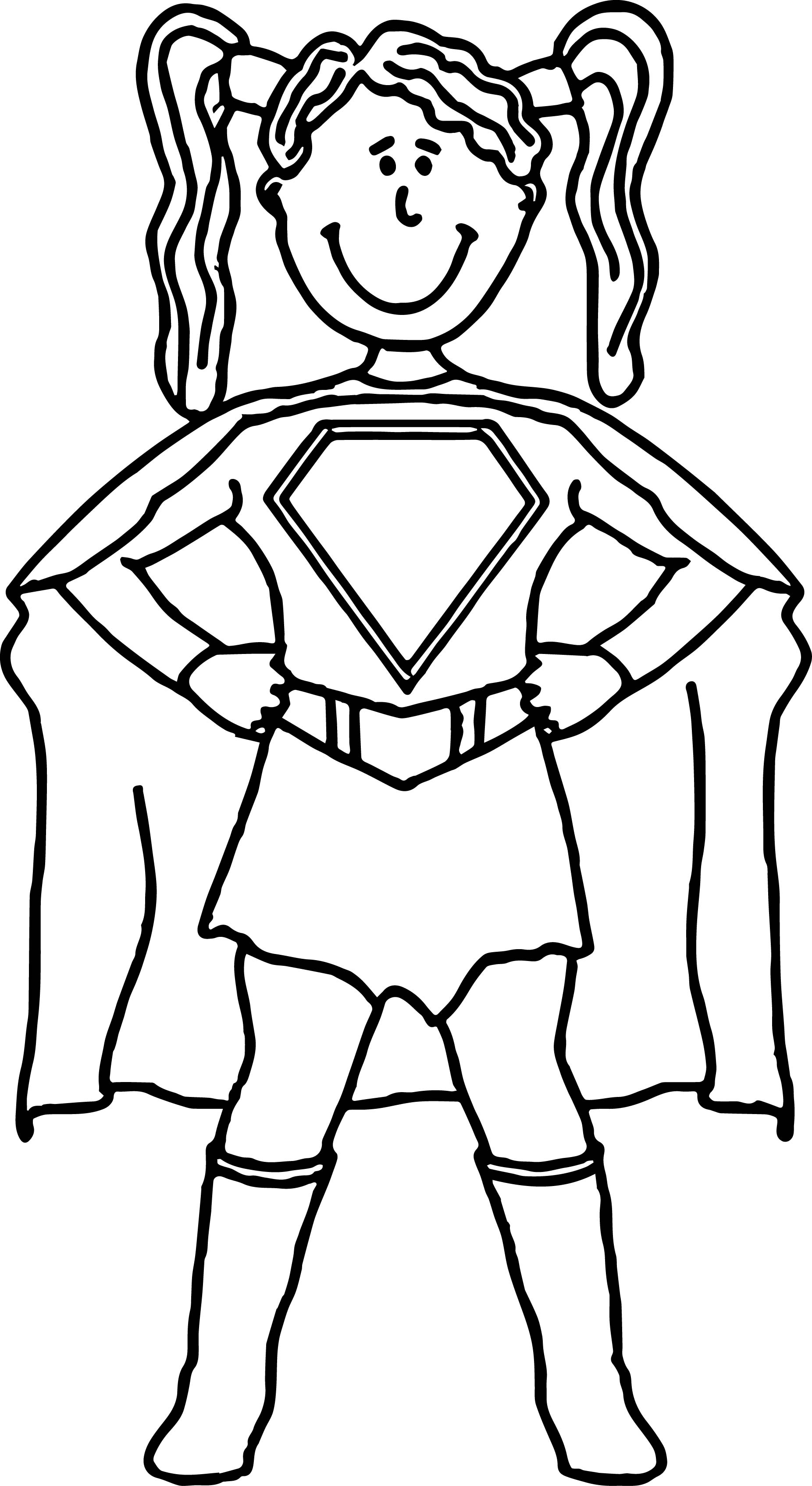 Superheroes Super Hero Girl Coloring Page Wecoloringpage