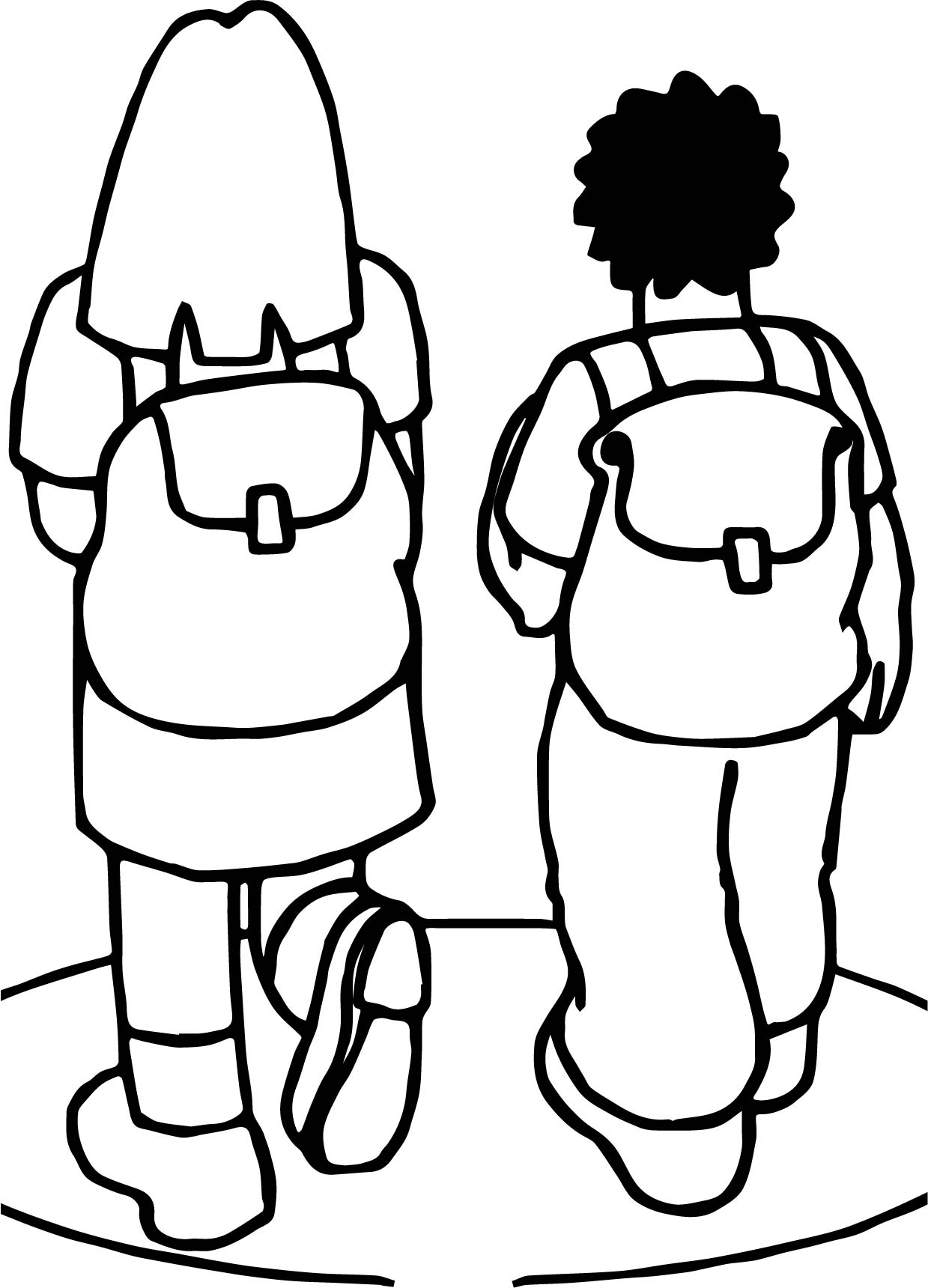 School Bag Page Coloring Pages