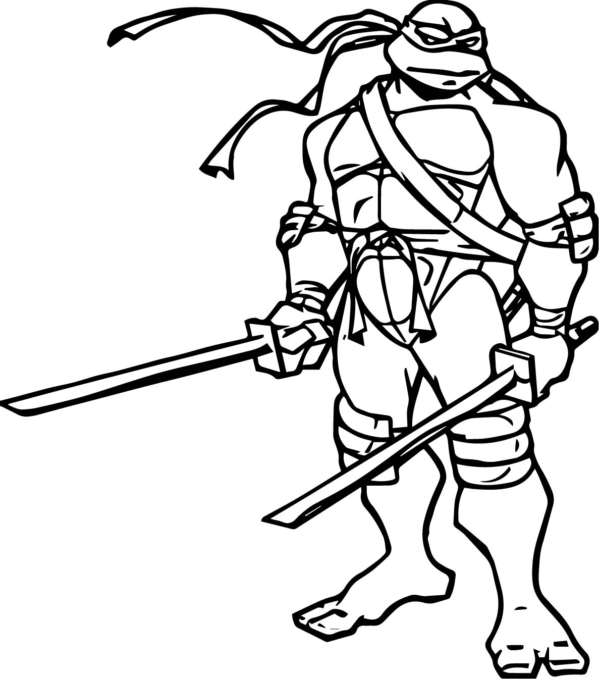 Tmnt Coloring Pages Leonardo