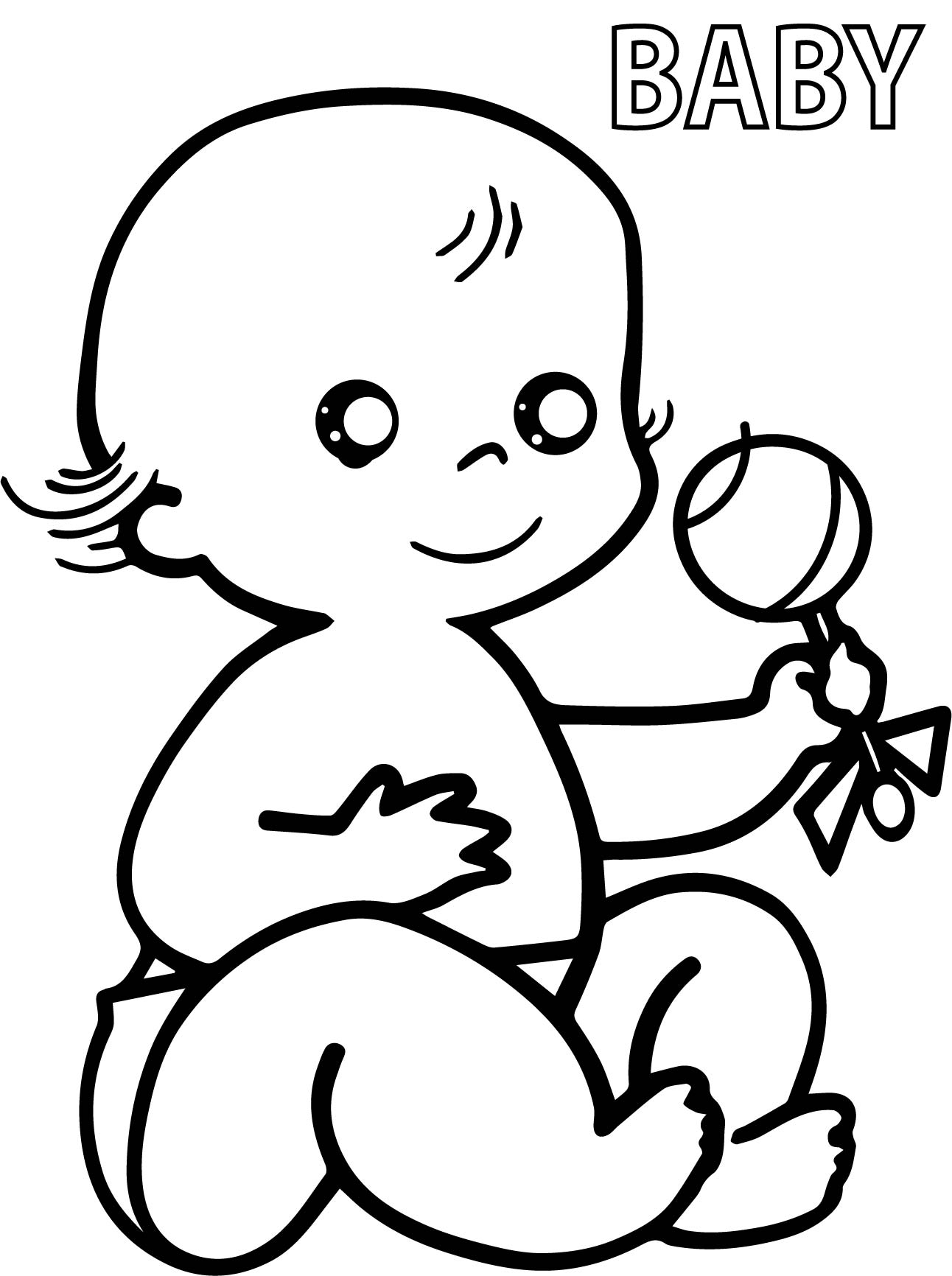 Preschool Baby Coloring Pages