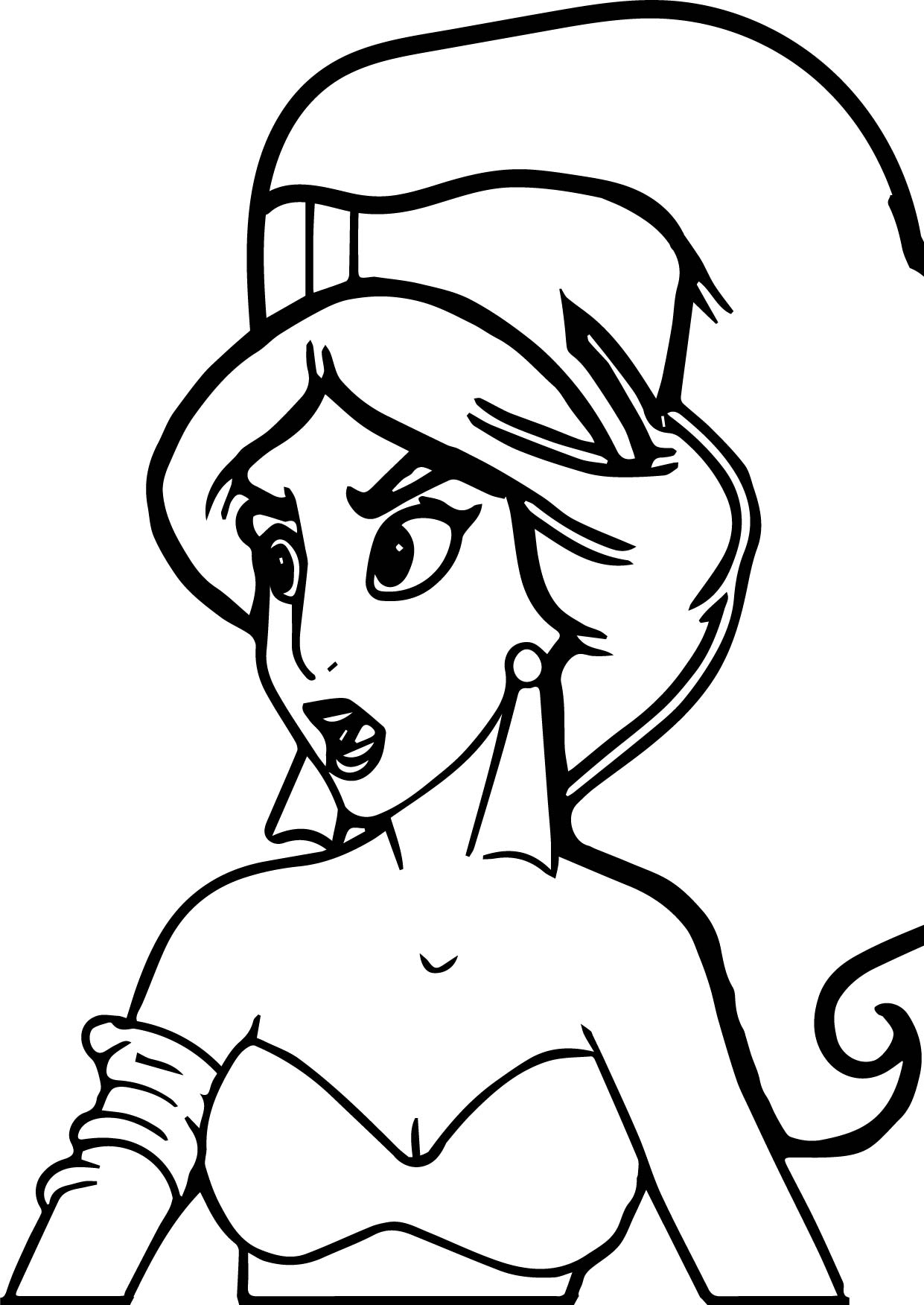 Princess Jasmine From Aladdin Movie Coloring Page Wecoloringpage