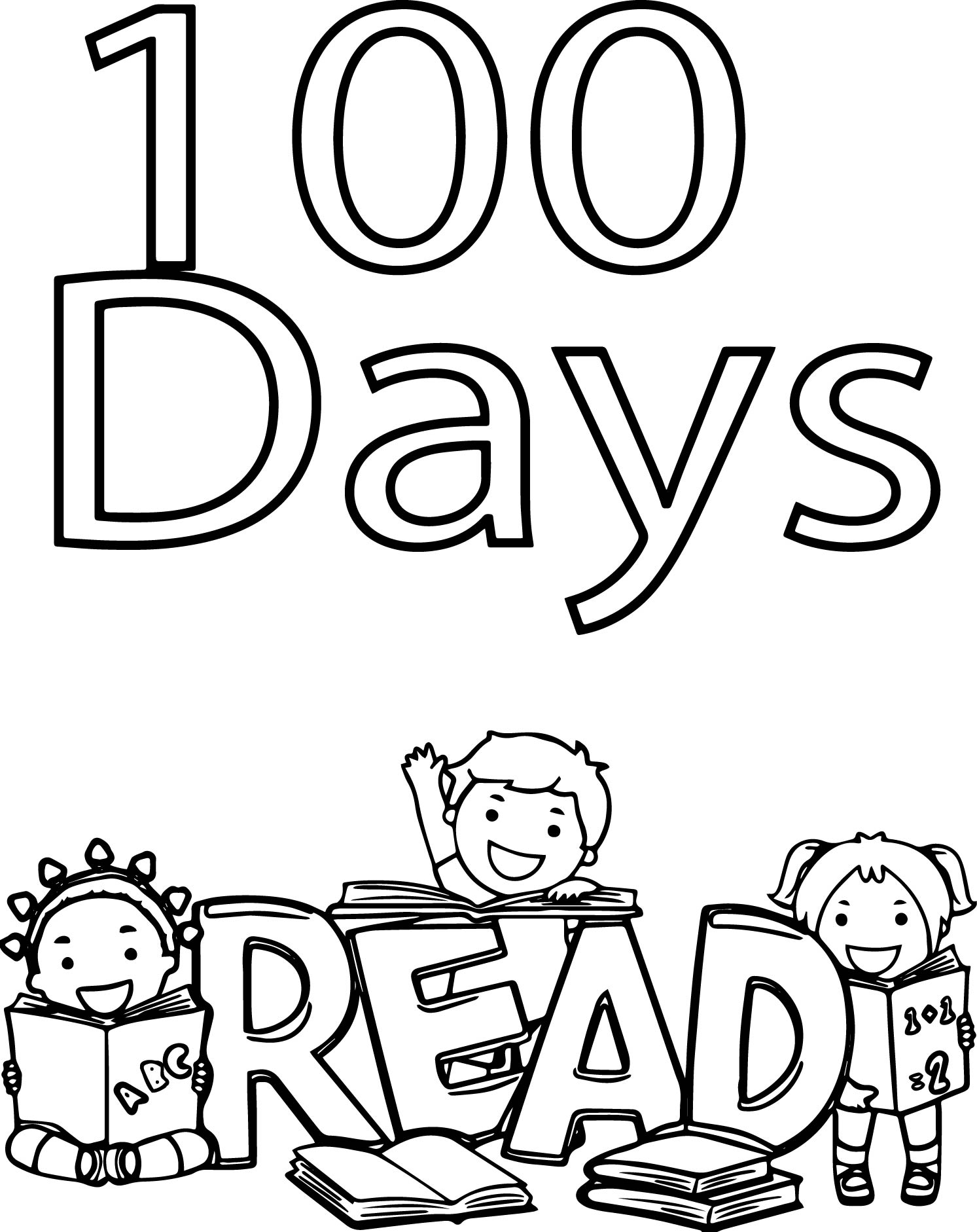 Happy 100th Day Of School Coloring Page