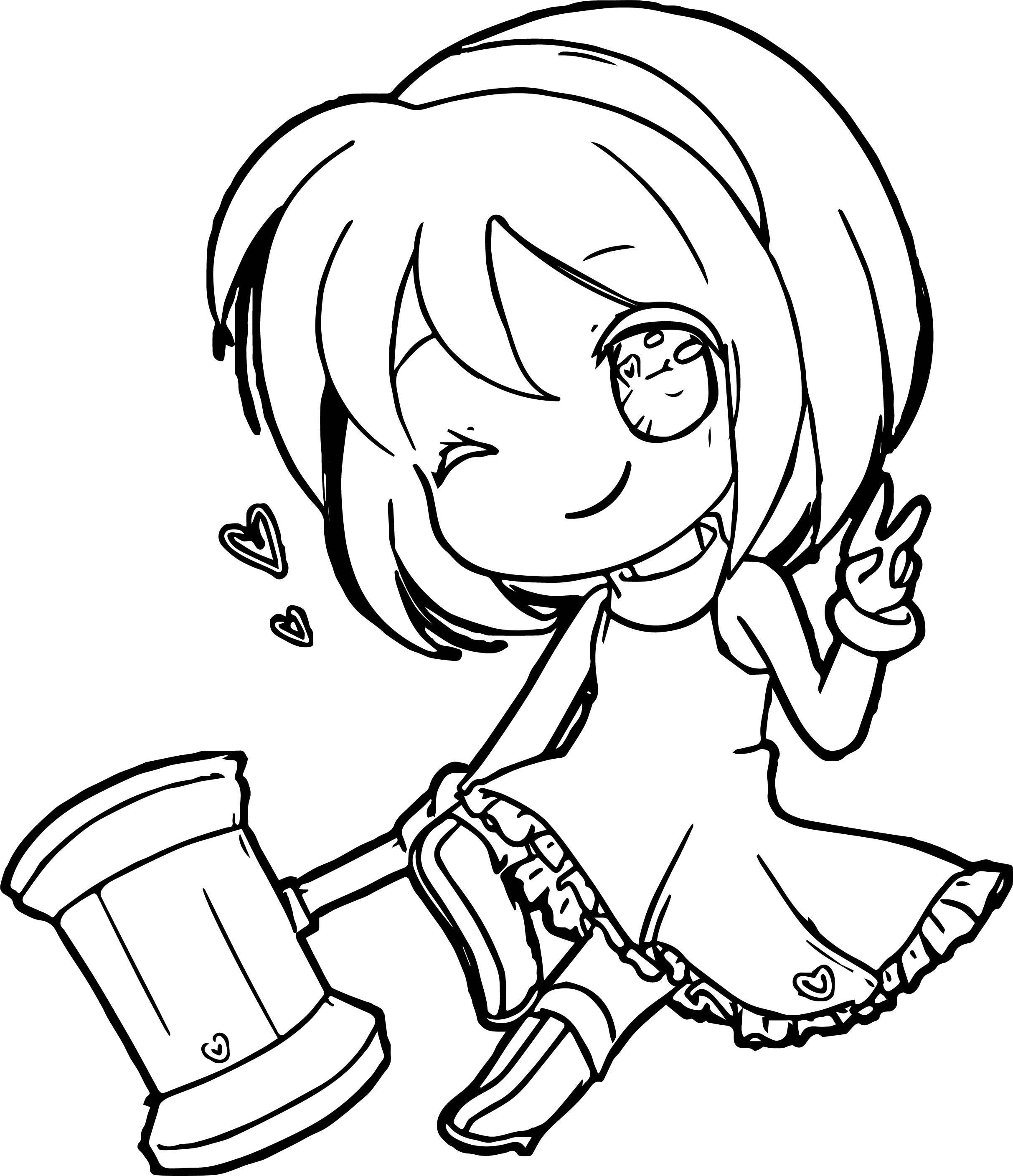 Amy Rose Chibi Coloring Page