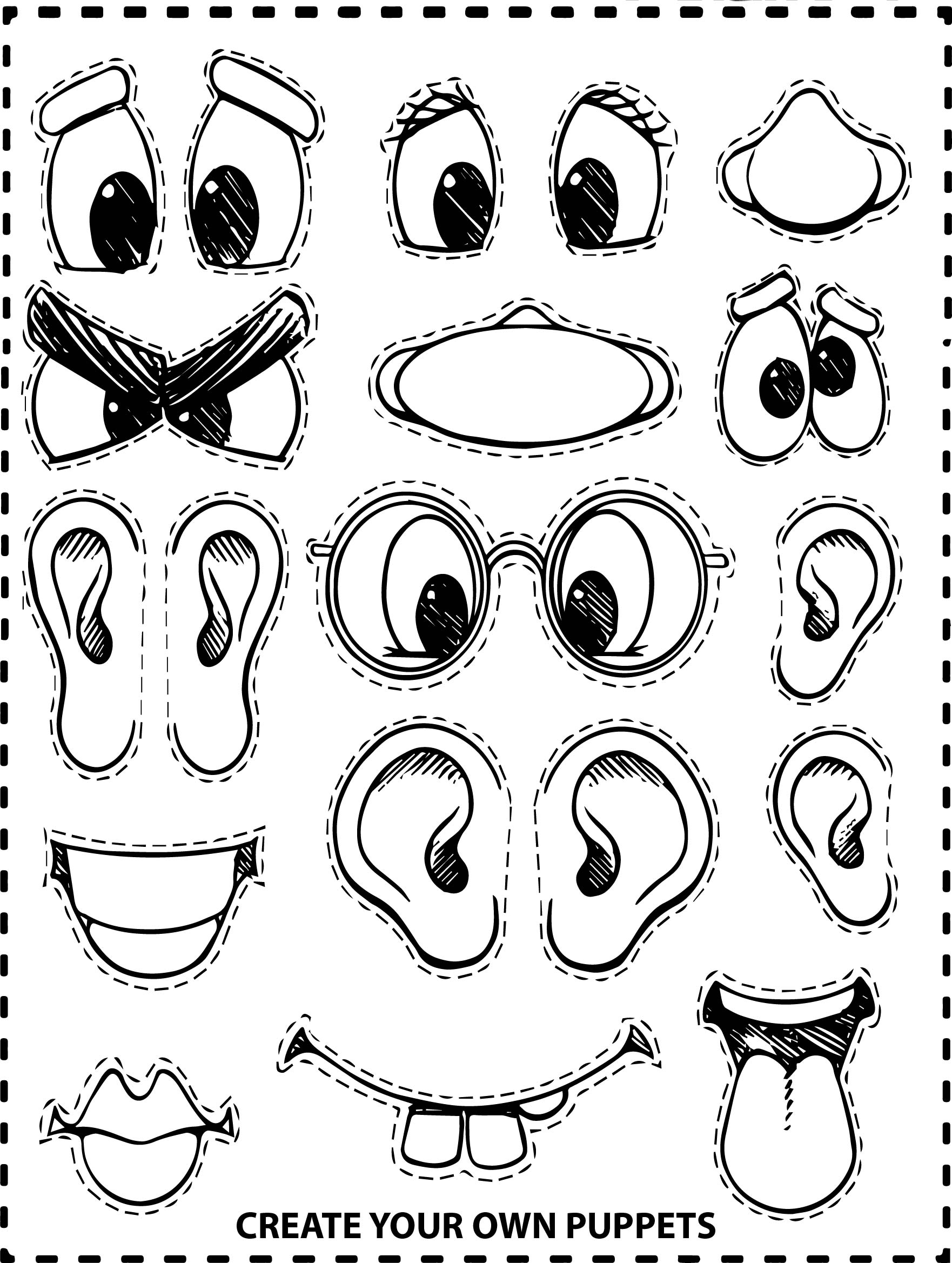 Create Your Own Face Coloring Page