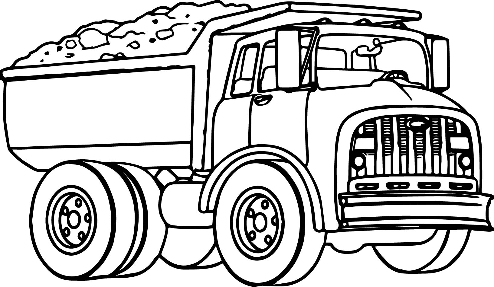Dump Truck Transport Coloring Page