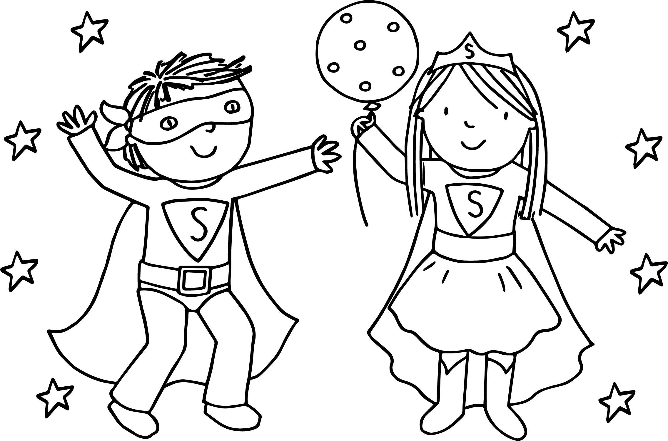 Kids Girl Boy Superman Playing Superheroes Super Hero