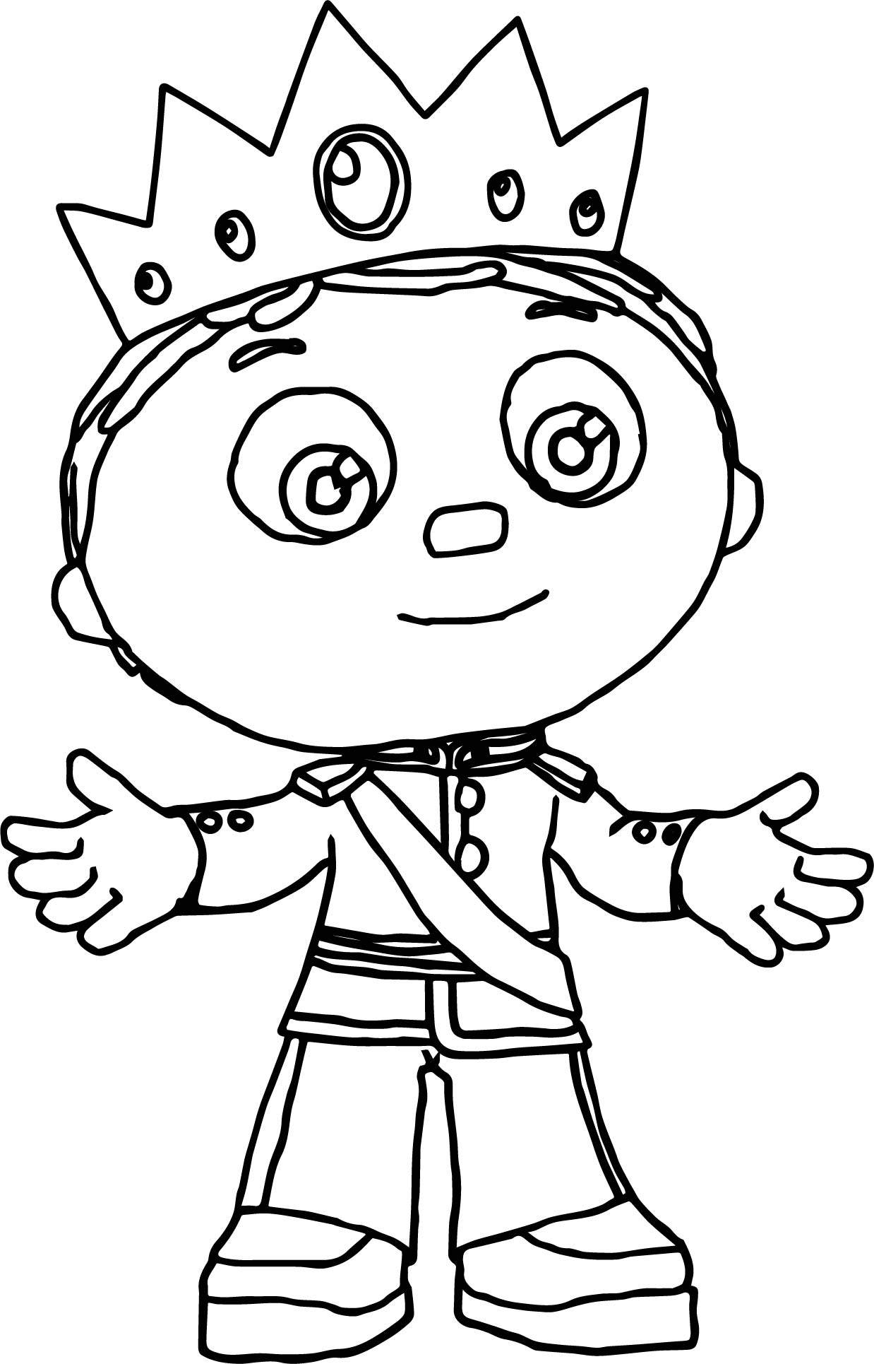 King Whyatt W O Mantle Super Why Coloring Page
