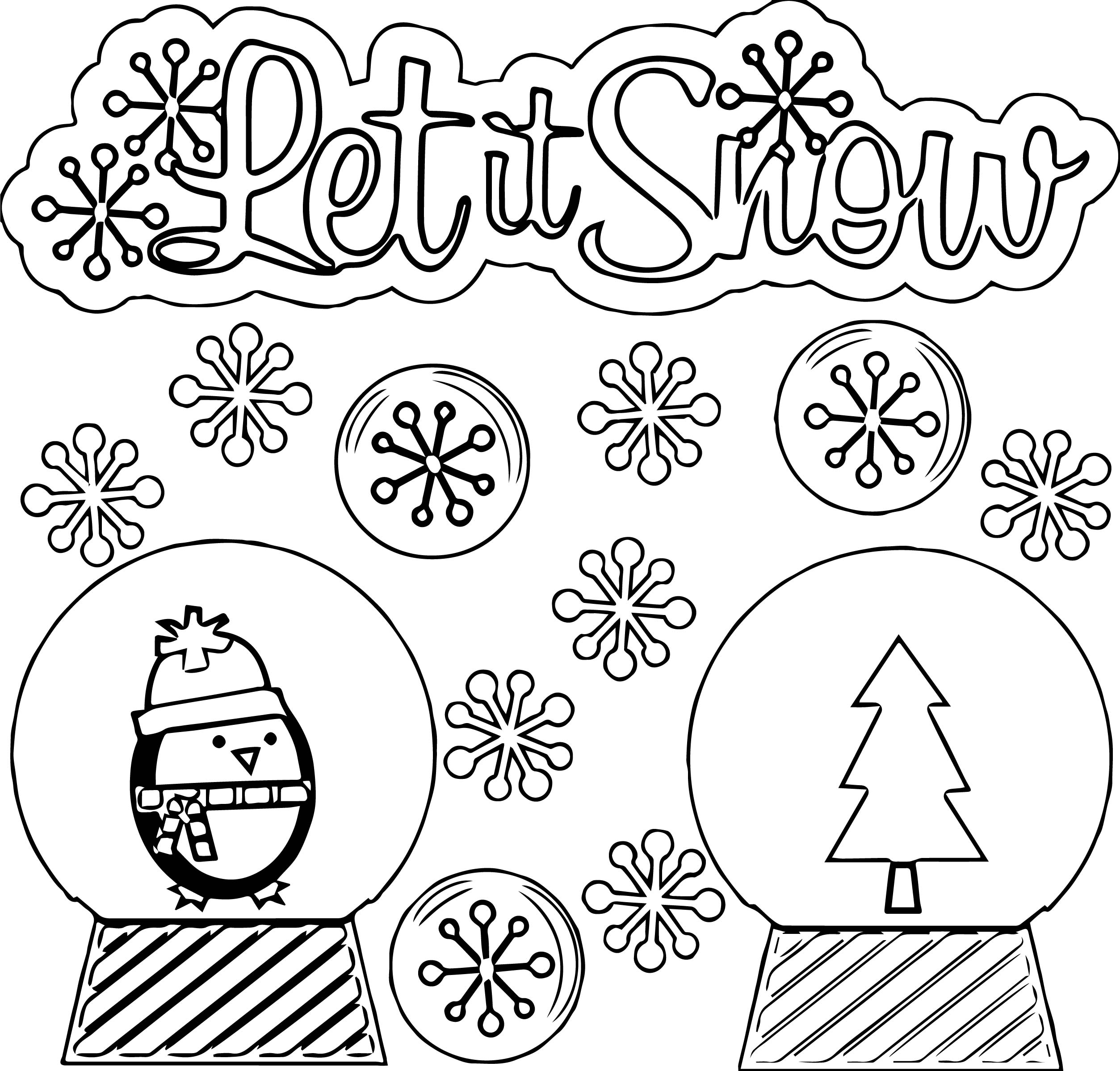 Petit Snow Winter Coloring Page