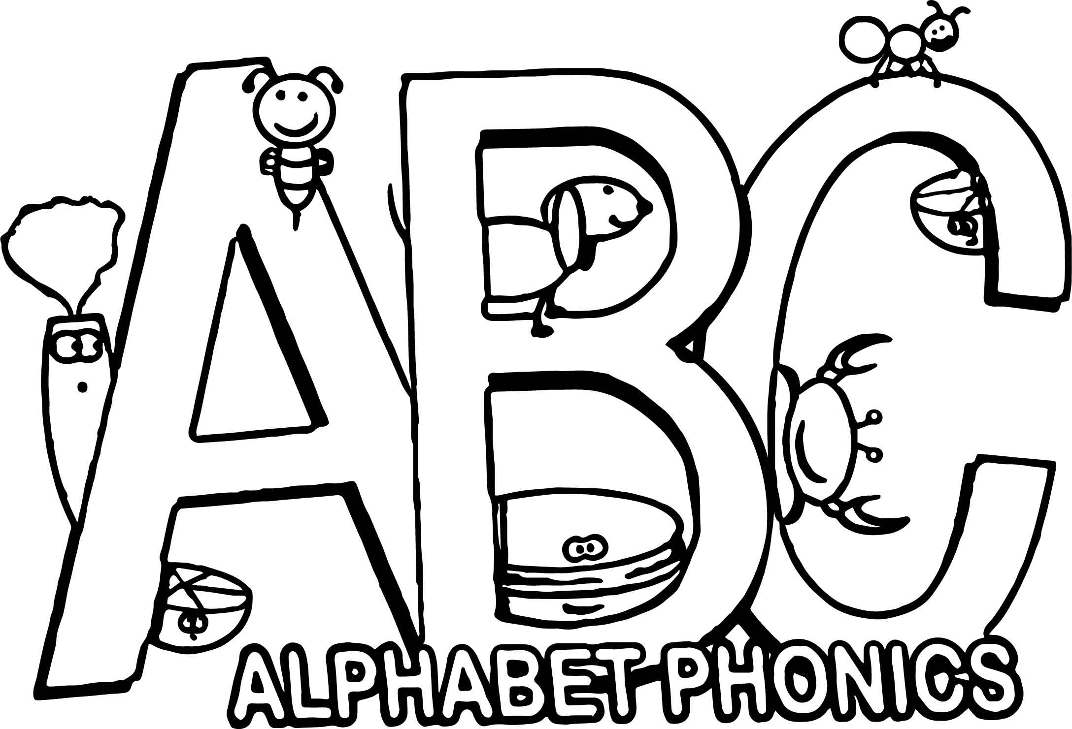 The Alphabet Song In Phonics Coloring Page