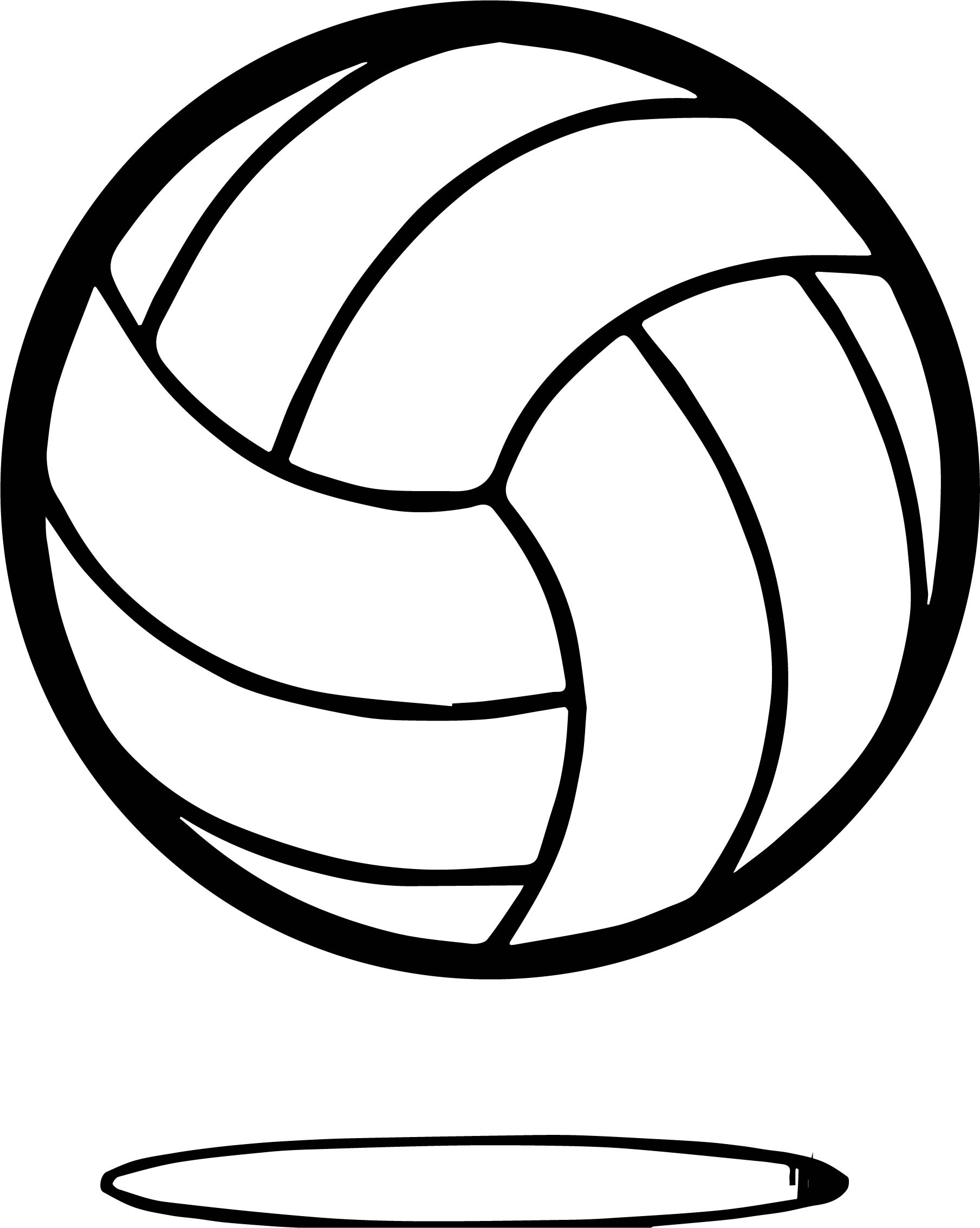 Volleyball Ball Up Coloring Page