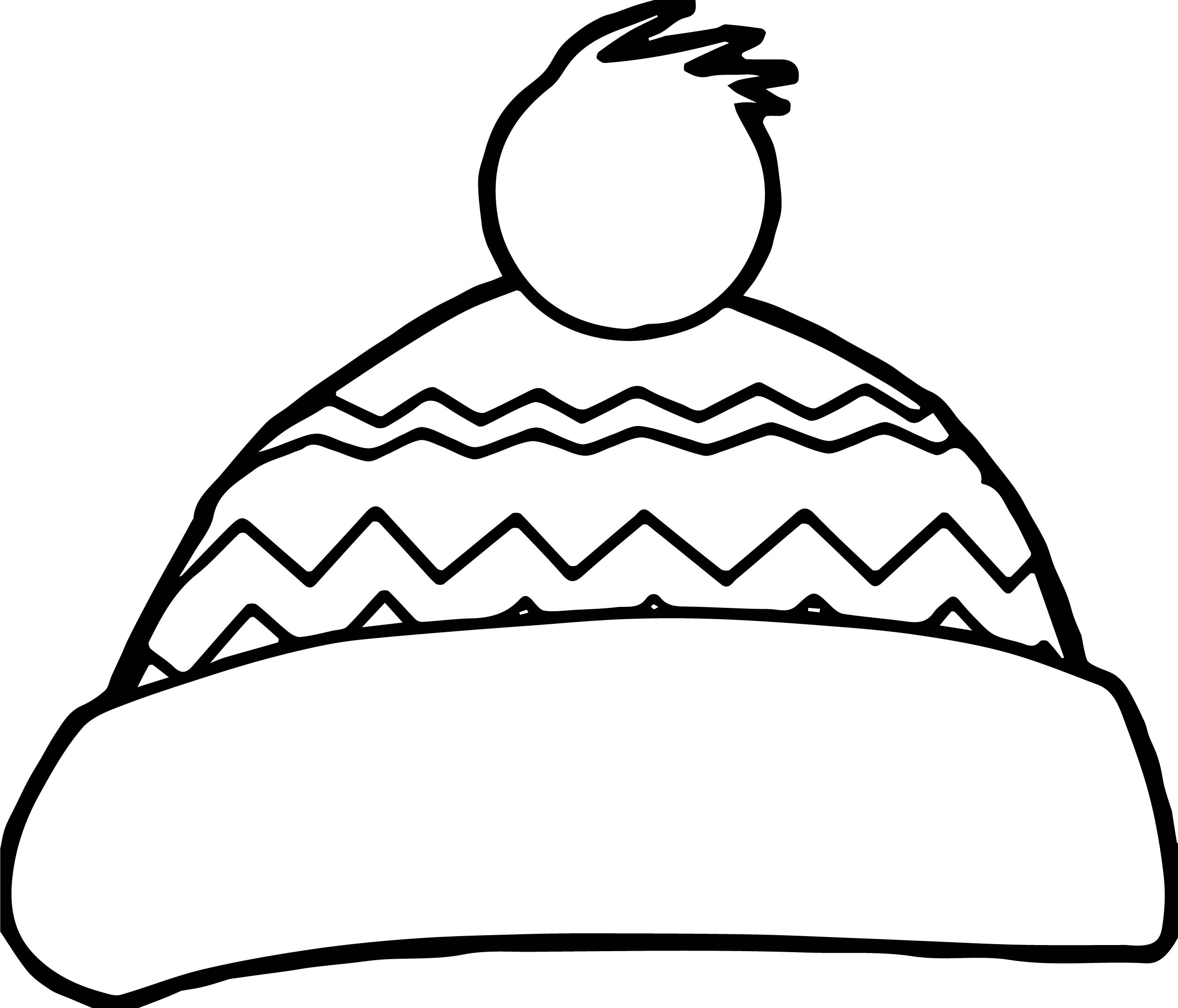 Winter Hat Picture Coloring Page Sketch Coloring Page