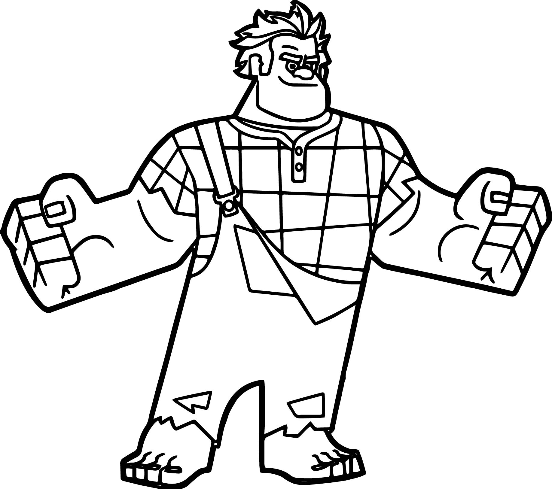 Wreck It Ralph I Am Here Coloring Page Wecoloringpage