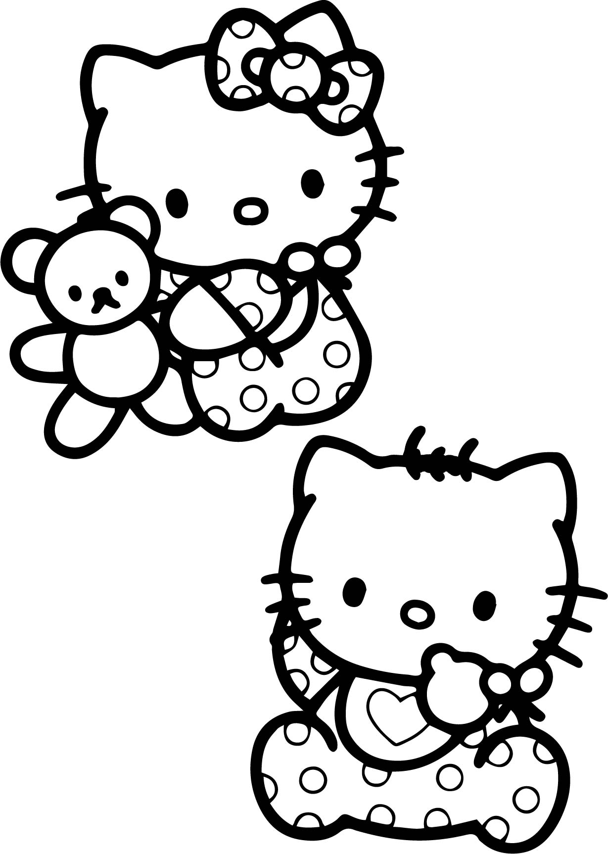 Coloring Pages Of Baby O Kitty