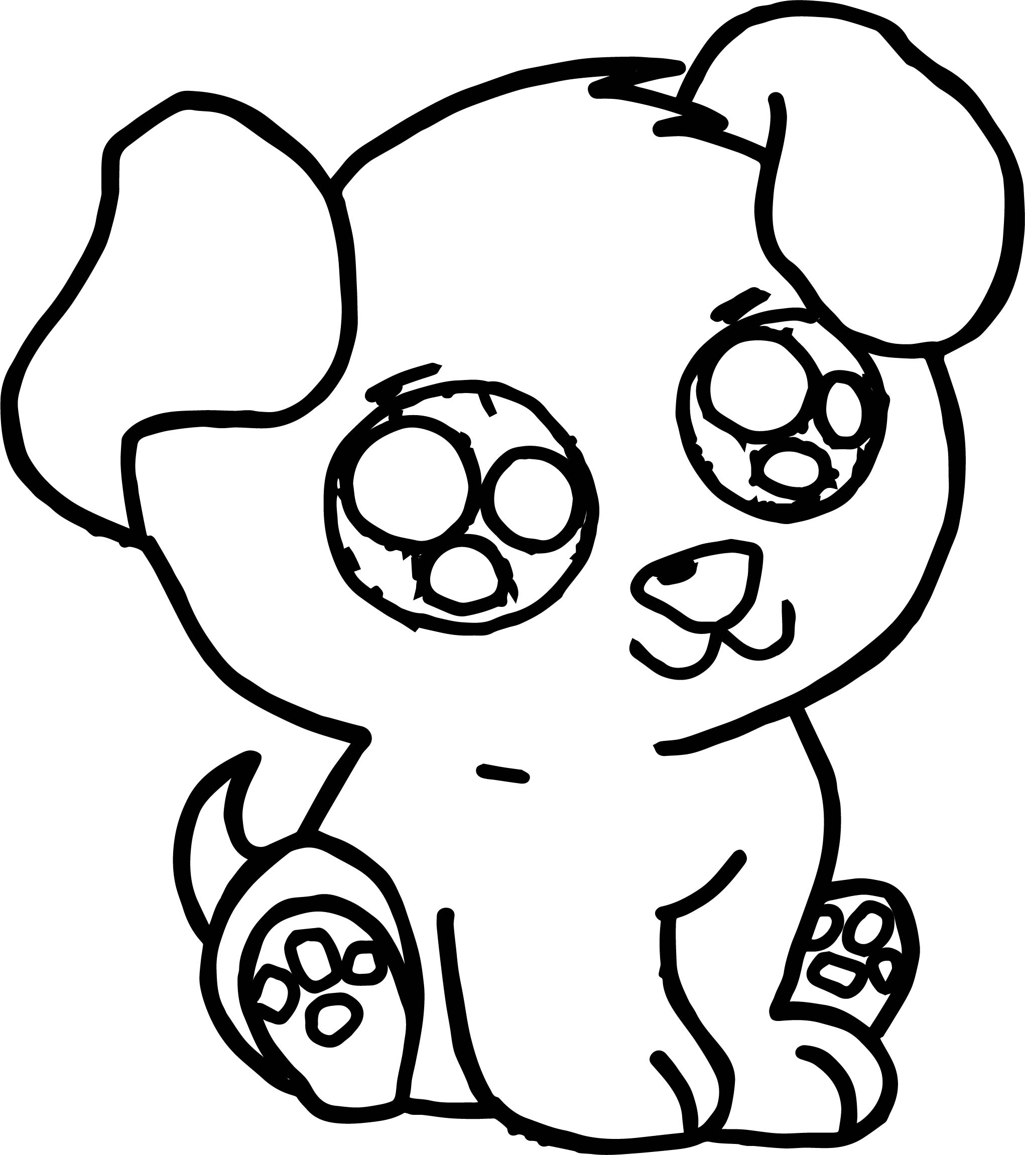 Coloring Pages Cute Dogs Puppies Coloring Page