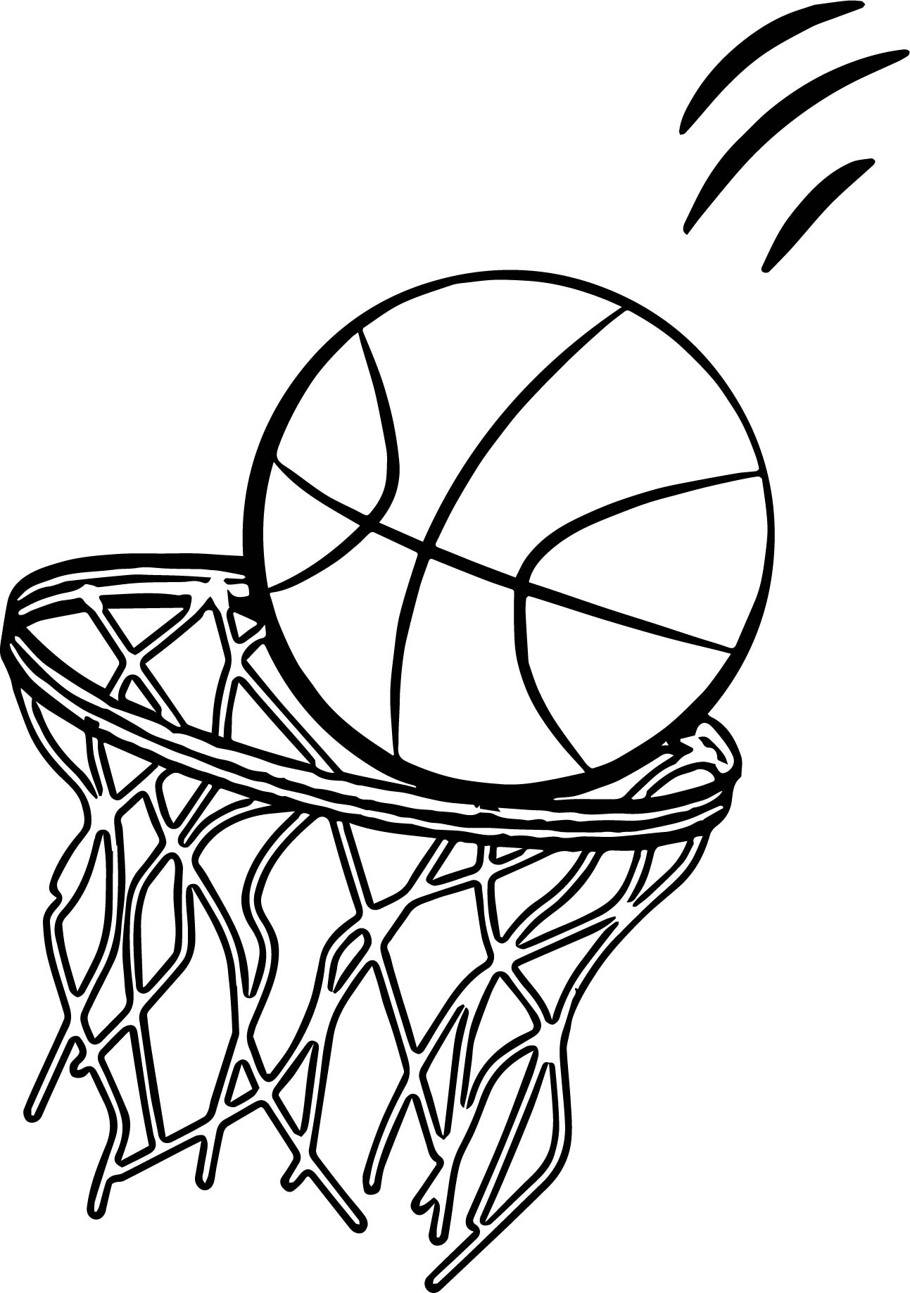 Going Basketball Ball Playing Basketball Coloring Page